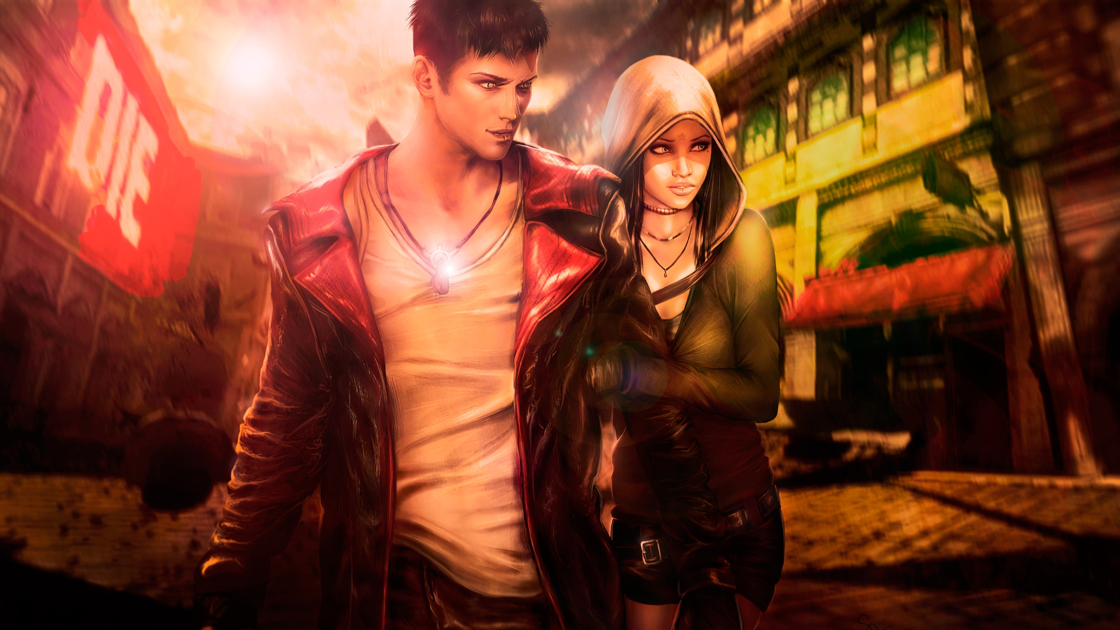 Wallpaper 4k Devil May Cry 5 Dante X Kat 2019 Games Wallpapers 4k