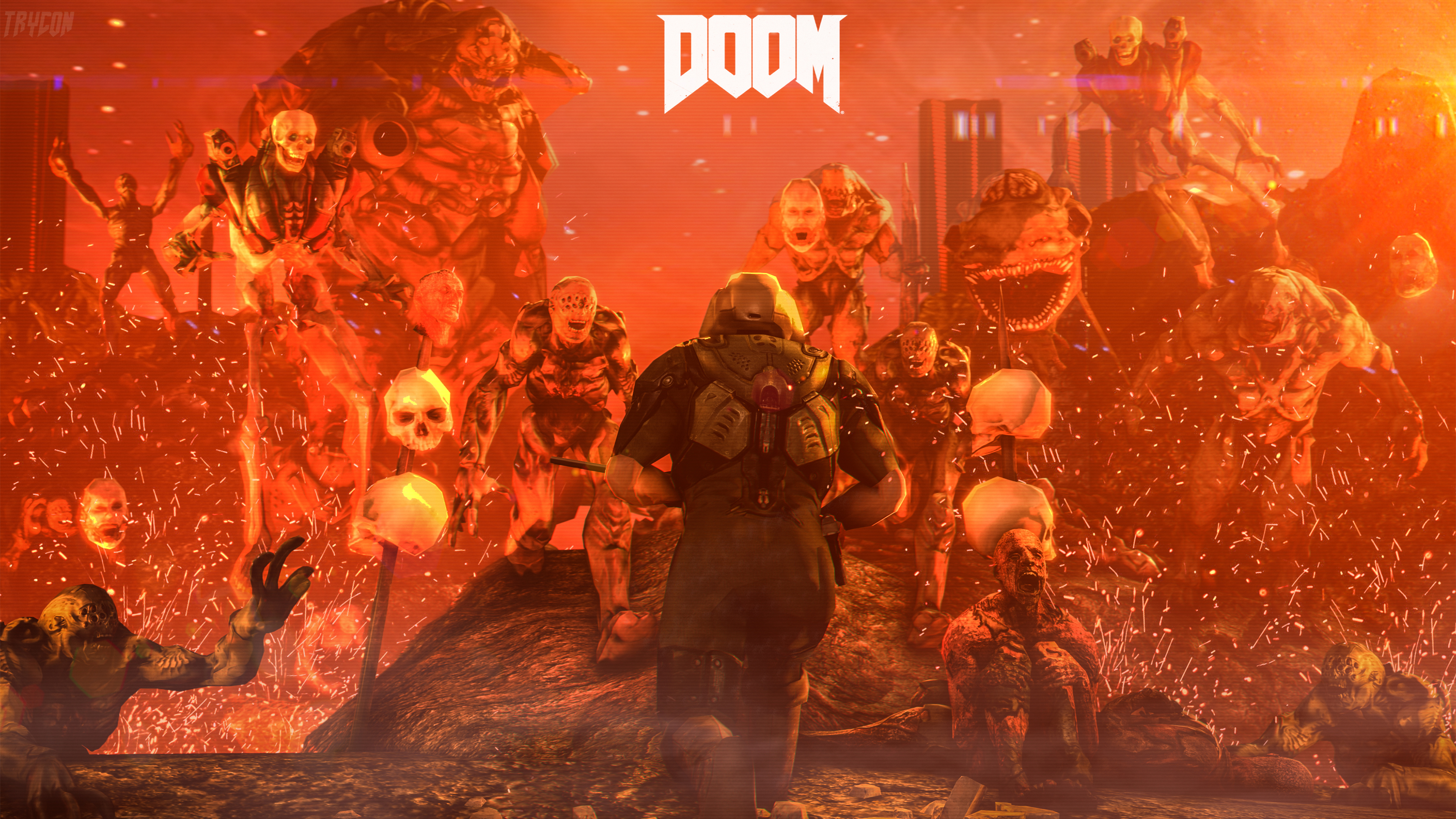 doom 4 digital art 1535967814 - Doom 4 Digital Art - xbox games wallpapers, ps games wallpapers, pc games wallpapers, games wallpapers, doom wallpapers, doom 4 wallpapers