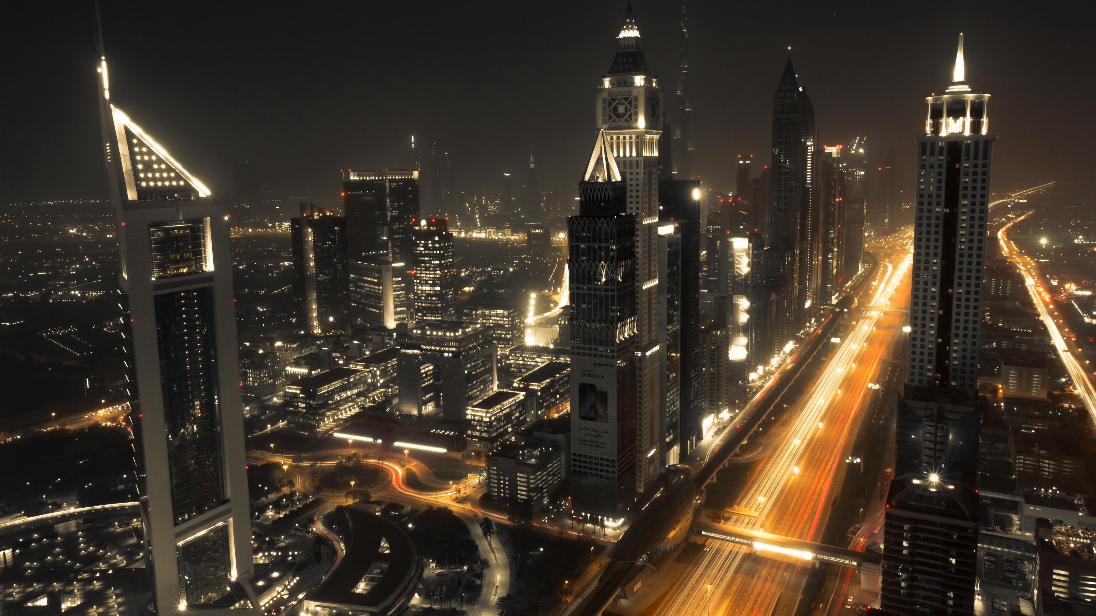 dubai architecture buildings night 4k 1538066417 - dubai, architecture, buildings, night 4k - Dubai, buildings, Architecture