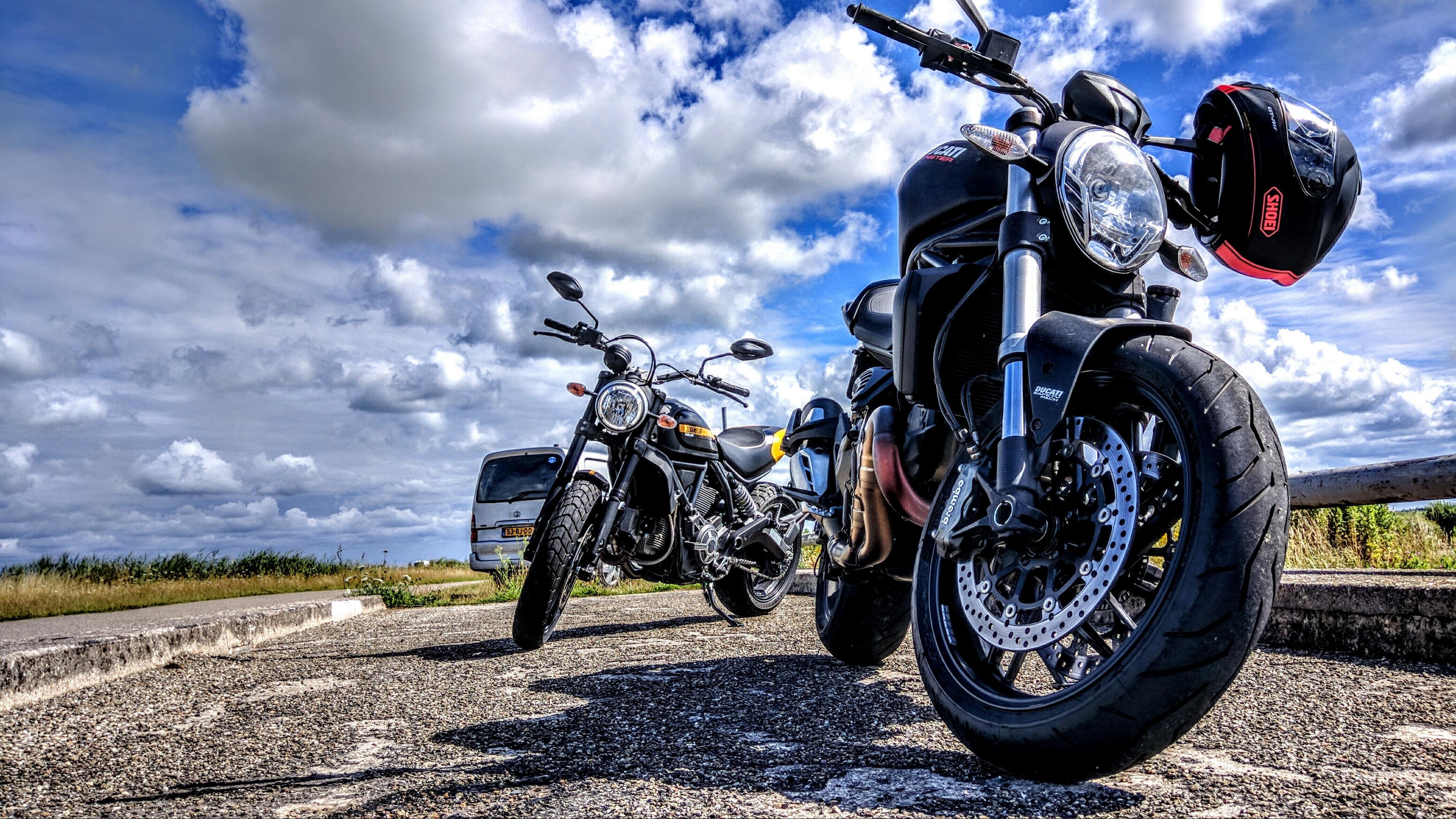 ducati motorcycle bike helmet motorcycling 4k 1536018365 - ducati, motorcycle, bike, helmet, motorcycling 4k - Motorcycle, Ducati, Bike