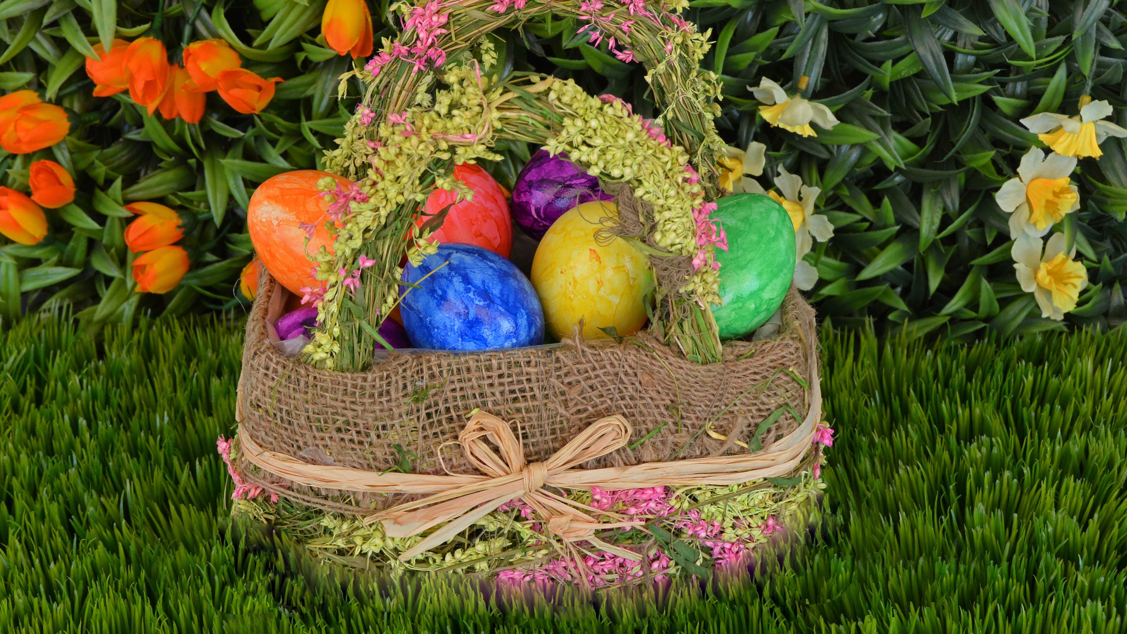 easter eggs basket easter eggs 4k 1538345229 - easter eggs, basket, easter, eggs 4k - easter eggs, Easter, Basket