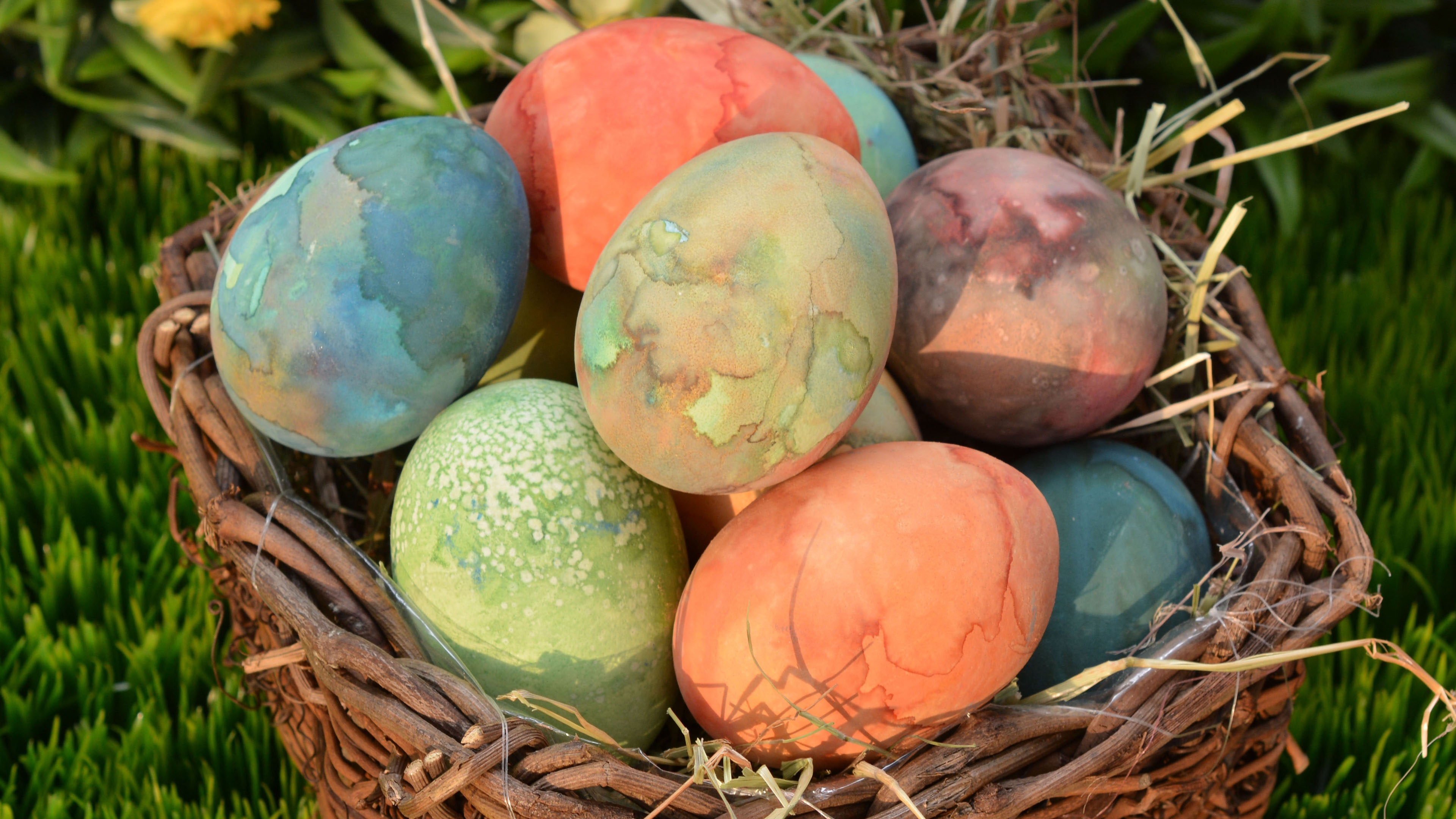 easter eggs easter eggs basket 4k 1538344862 - easter eggs, easter, eggs, basket 4k - Eggs, easter eggs, Easter