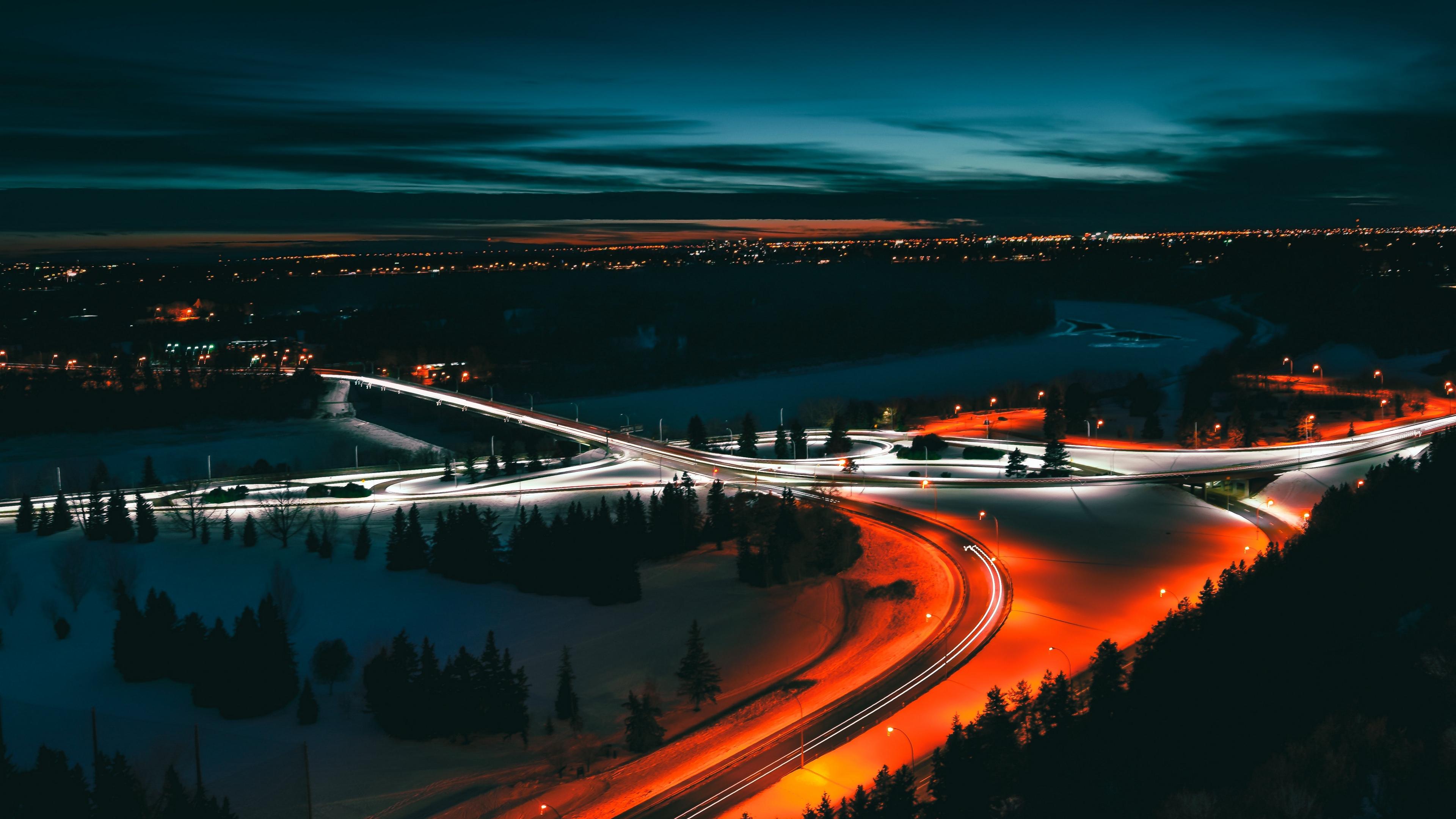 edmonton canada night city top view 4k 1538068053 - edmonton, canada, night city, top view 4k - night city, edmonton, Canada