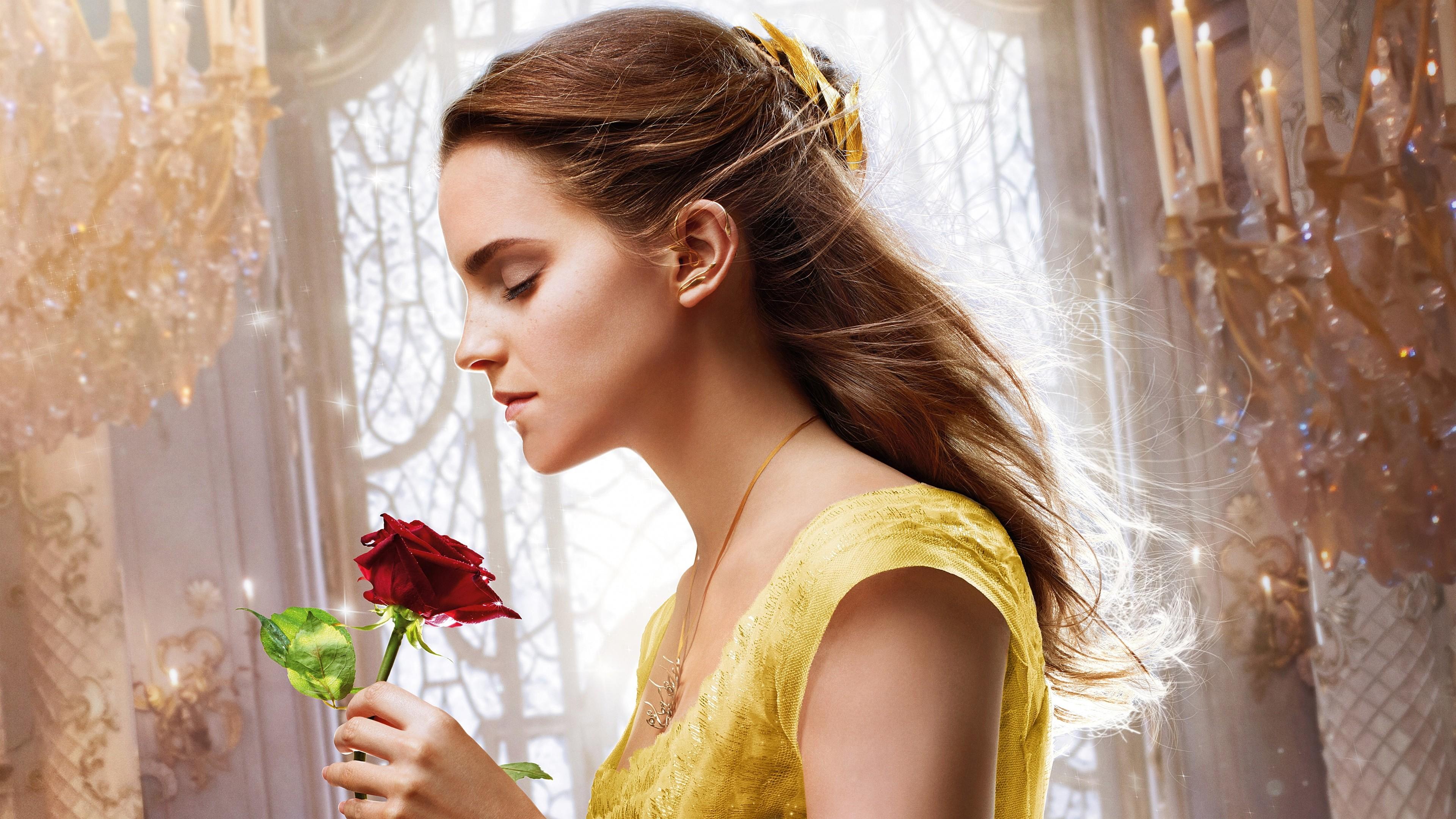Wallpaper 4k Emma Watson Beauty And The Beast 5k Hd 2017 Movies