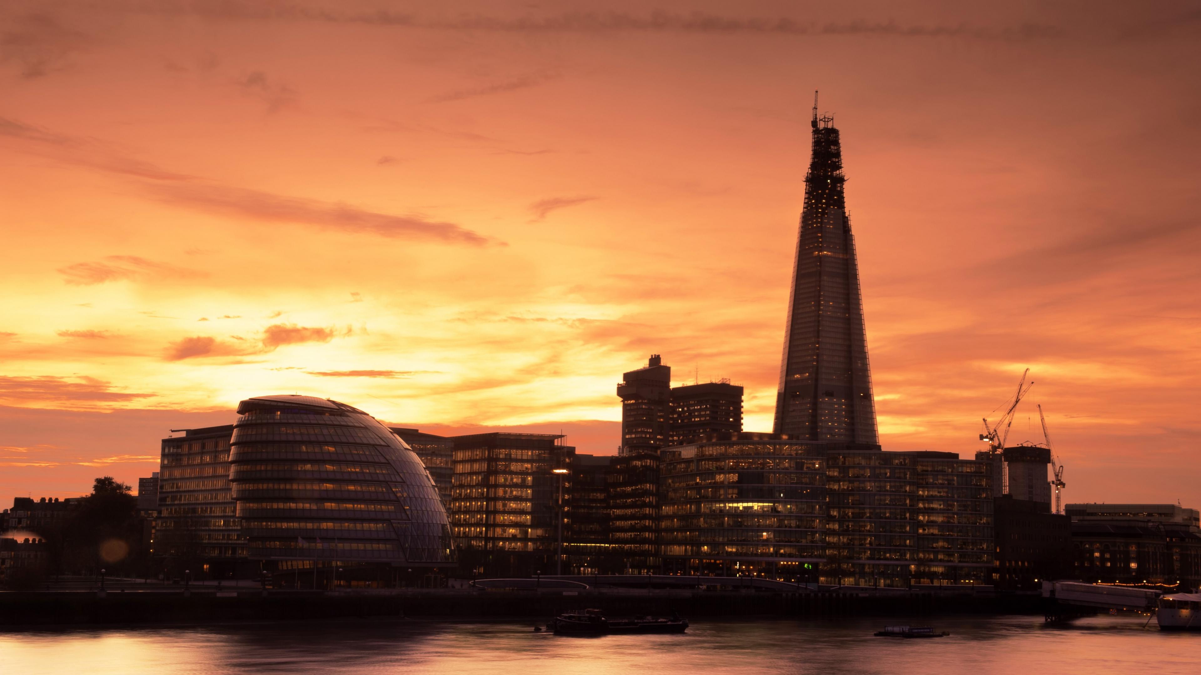 england london thames evening 4k 1538065661 - england, london, thames, evening 4k - Thames, London, England