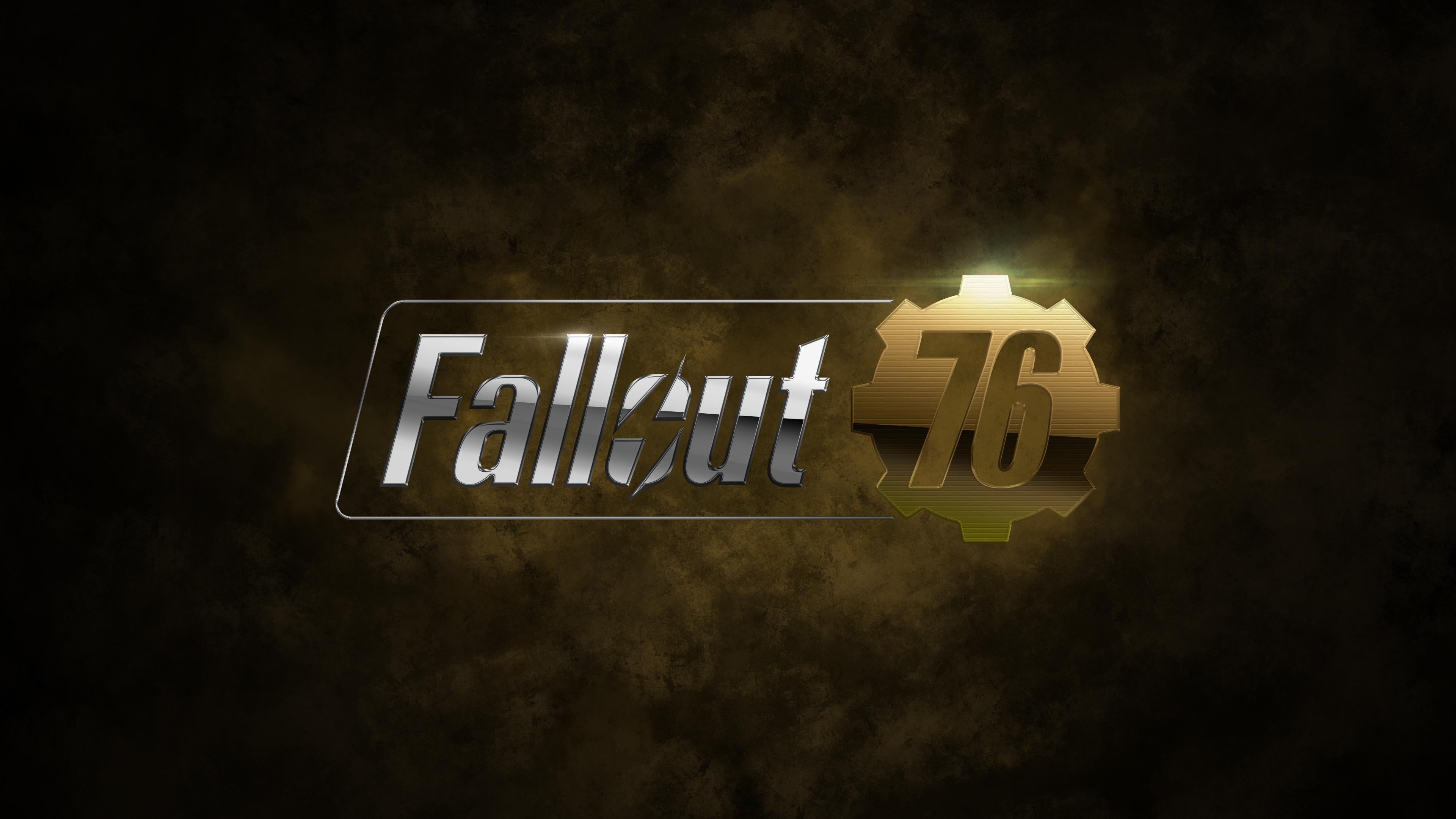 fallout 76 game logo 4k 1537691957 - Fallout 76 Game Logo 4k - hd-wallpapers, games wallpapers, fallout 76 wallpapers, deviantart wallpapers, 4k-wallpapers, 2018 games wallpapers