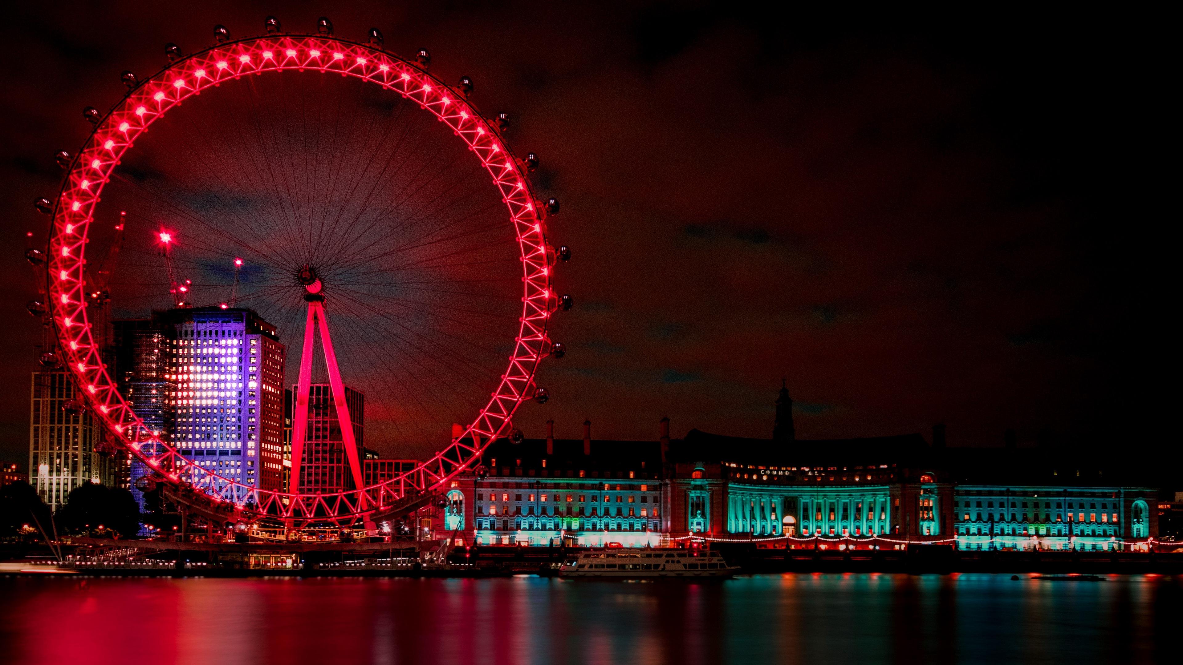 ferris wheel night city london united kingdom 4k 1538068159 - ferris wheel, night city, london, united kingdom 4k - night city, London, ferris wheel