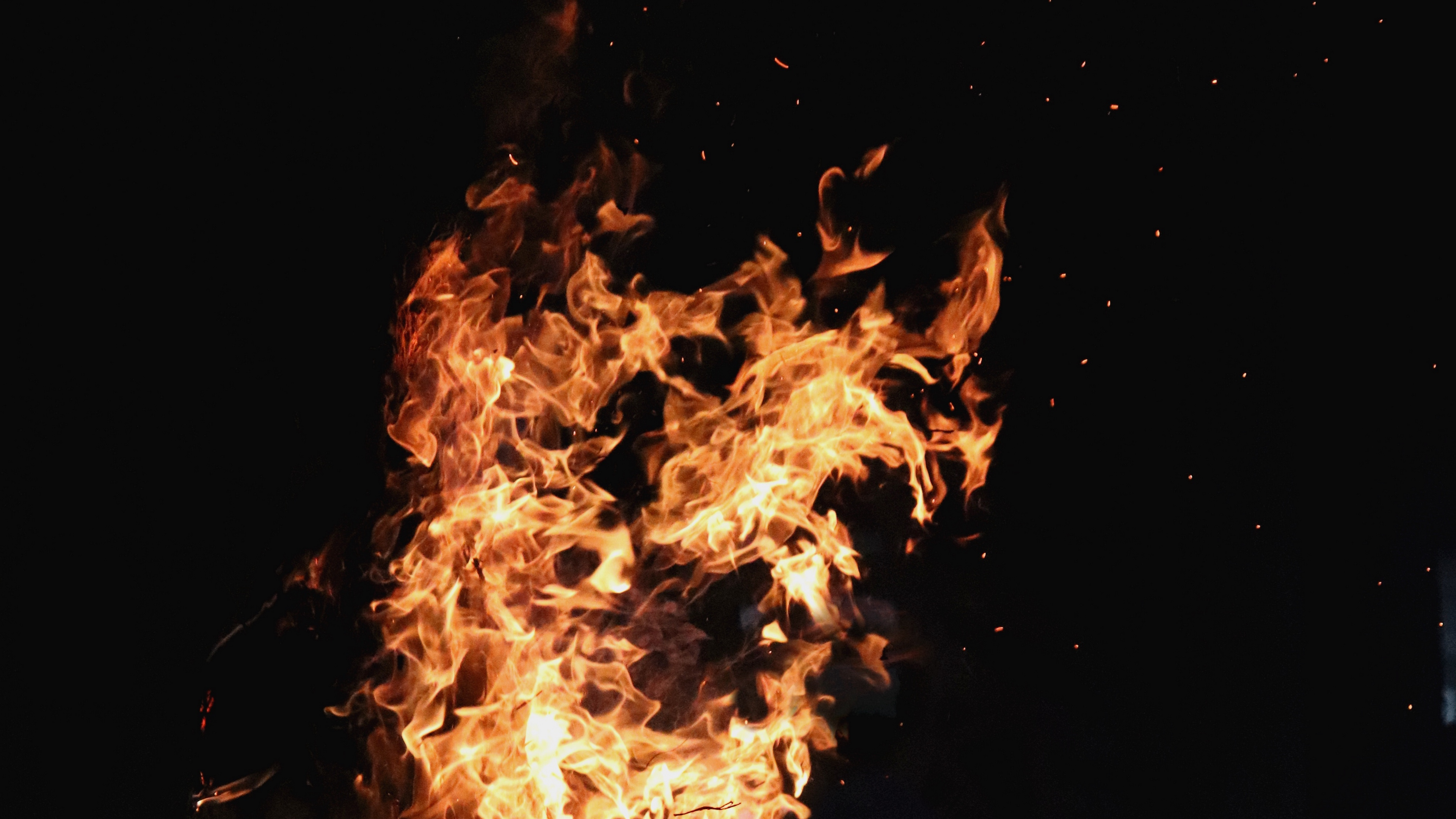 fire bonfire flame dark background 4k 1536017751 - fire, bonfire, flame, dark background 4k - flame, Fire, bonfire