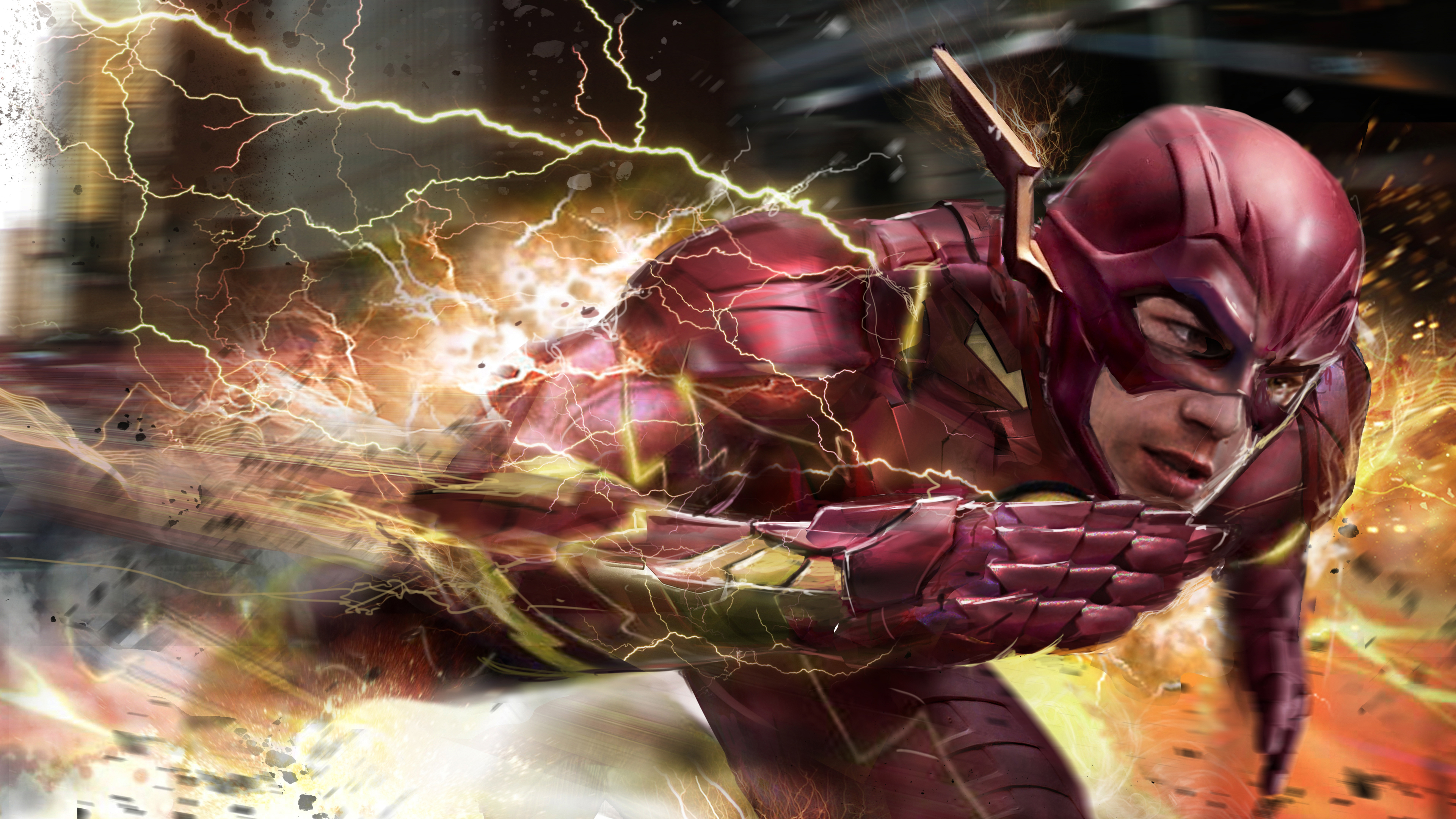 flash the man with speed 1536522795 - Flash The Man With Speed - the flash wallpapers, superheroes wallpapers, hd-wallpapers, flash wallpapers, deviantart wallpapers, artwork wallpapers, artist wallpapers, 4k-wallpapers