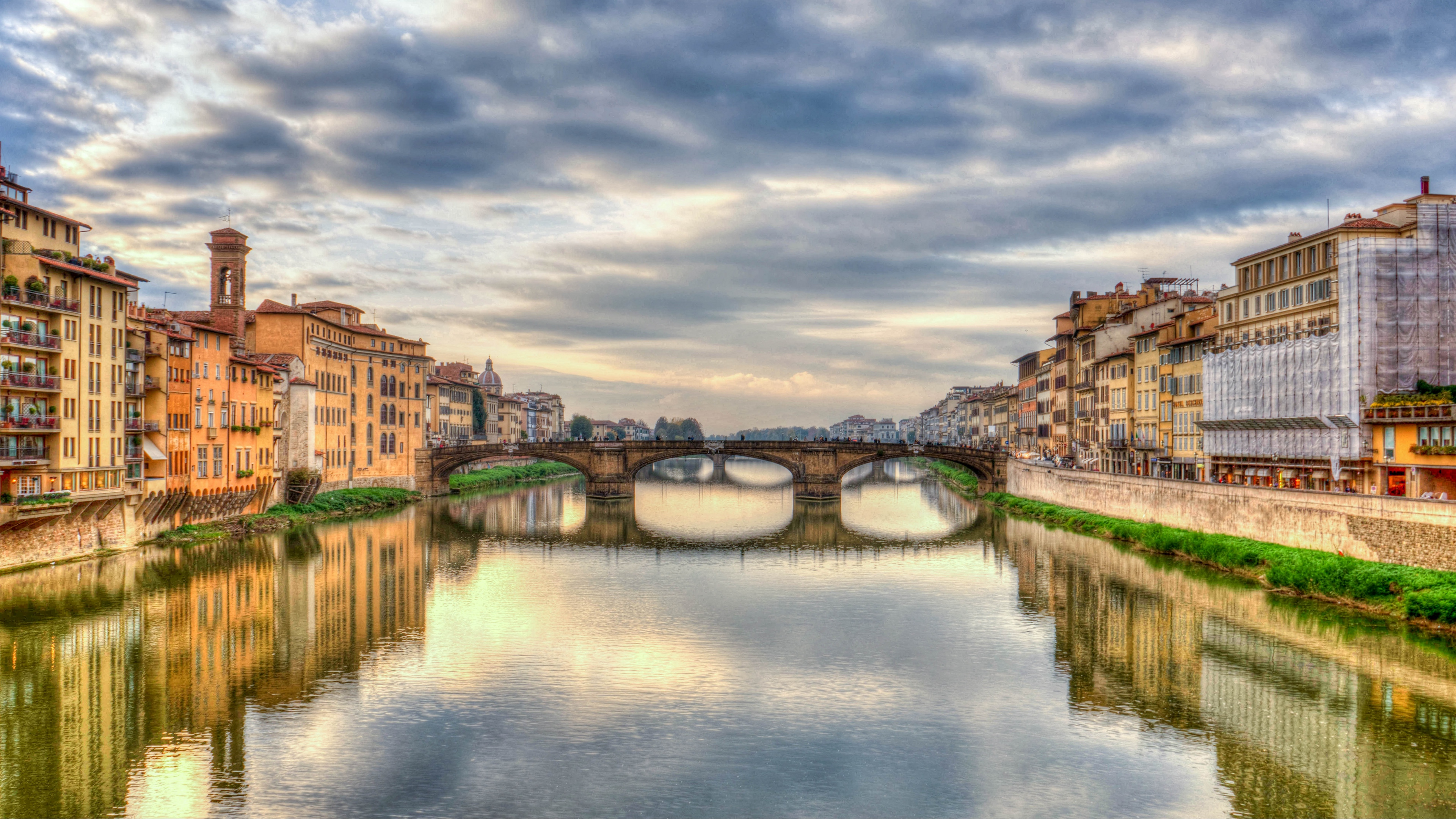 florence italy bridge river hdr 4k 1538066103 - florence, italy, bridge, river, hdr 4k - Italy, florence, bridge
