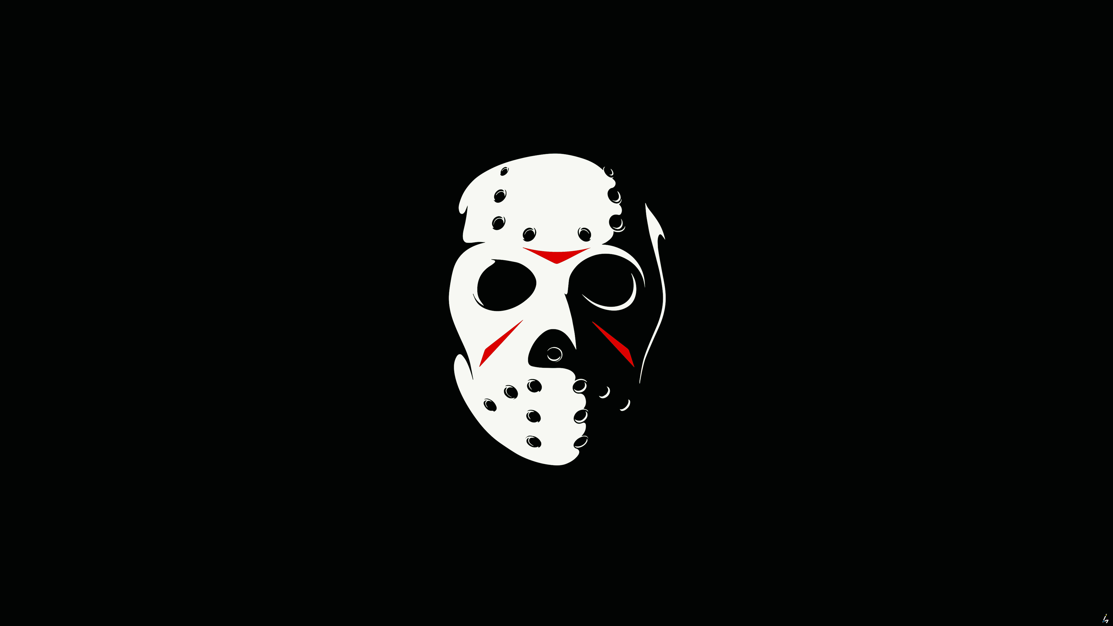 wallpaper 4k friday the 13th the game minimalism dark 4k 2017 games