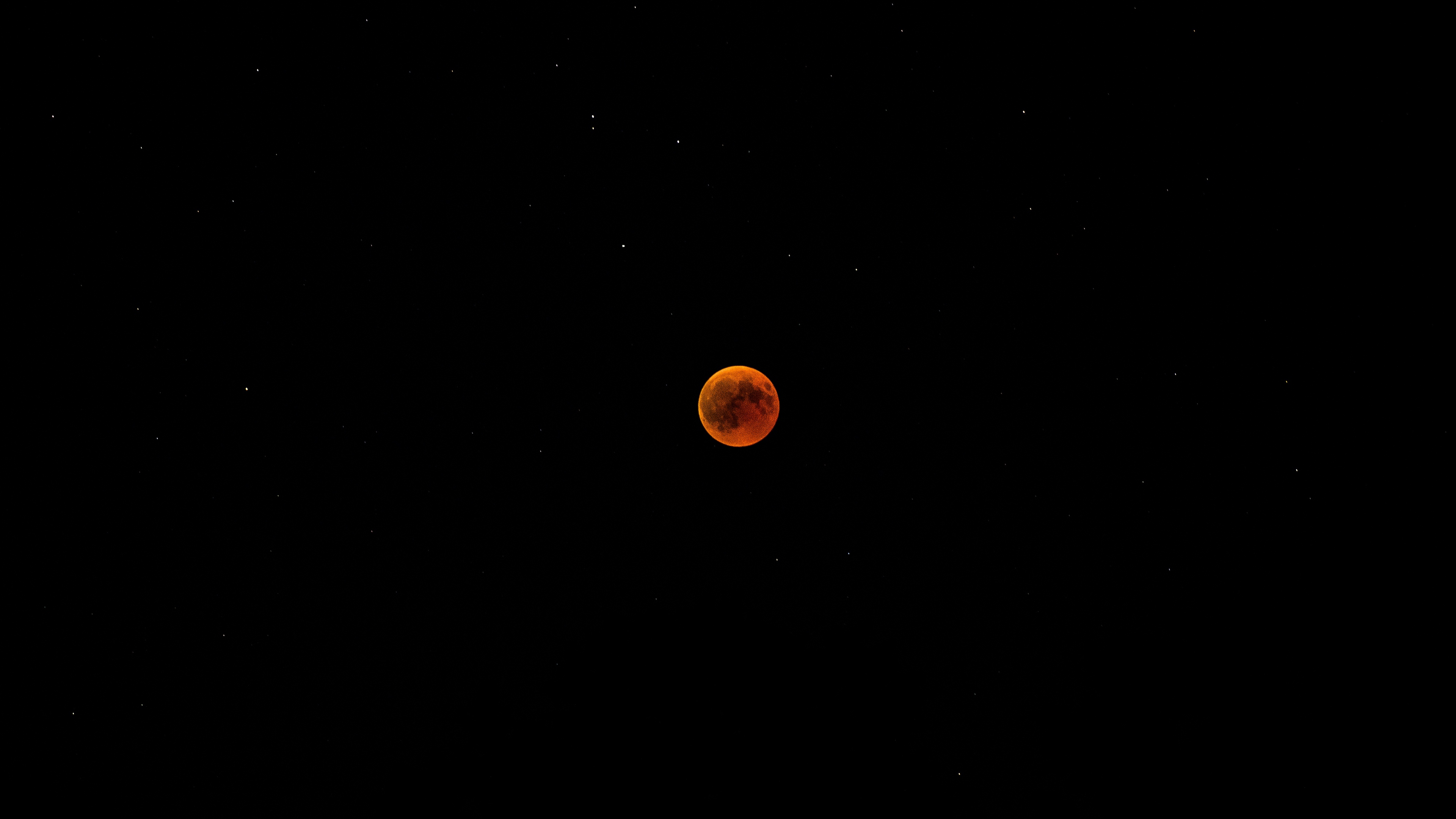 full moon red moon eclipse starry sky night 4k 1536013905 - full moon, red moon, eclipse, starry sky, night 4k - red moon, full moon, Eclipse