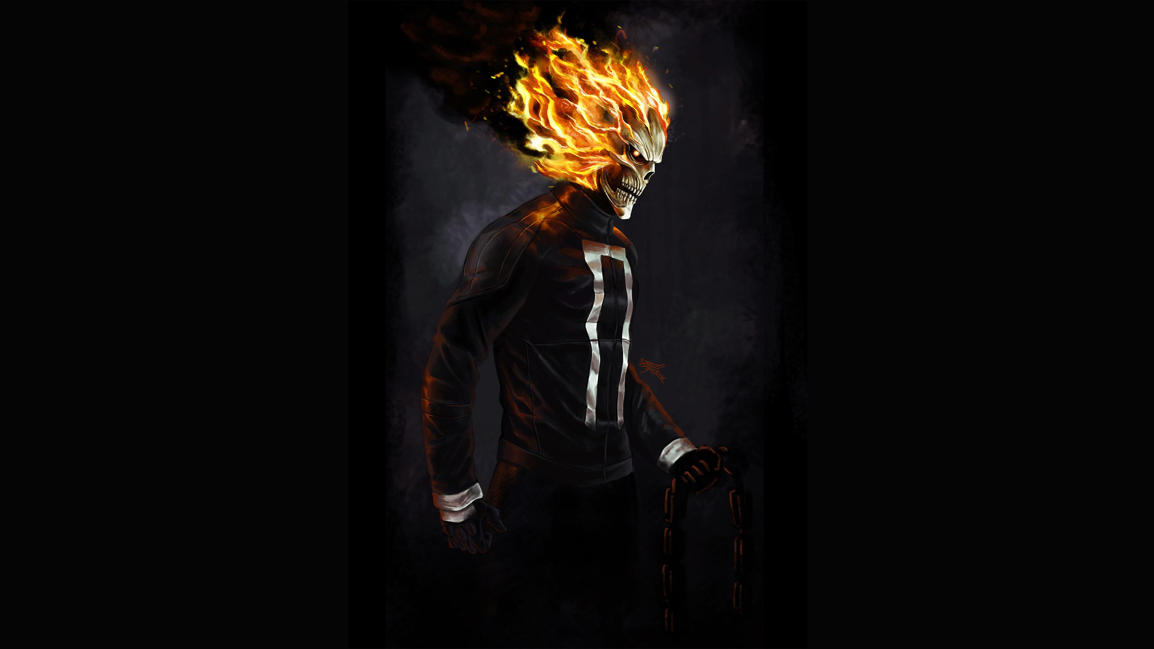 ghost rider 4k art 1536523561 - Ghost Rider 4k Art - superheroes wallpapers, hd-wallpapers, ghost rider wallpapers, digital art wallpapers, deviantart wallpapers, artwork wallpapers, artist wallpapers, 4k-wallpapers