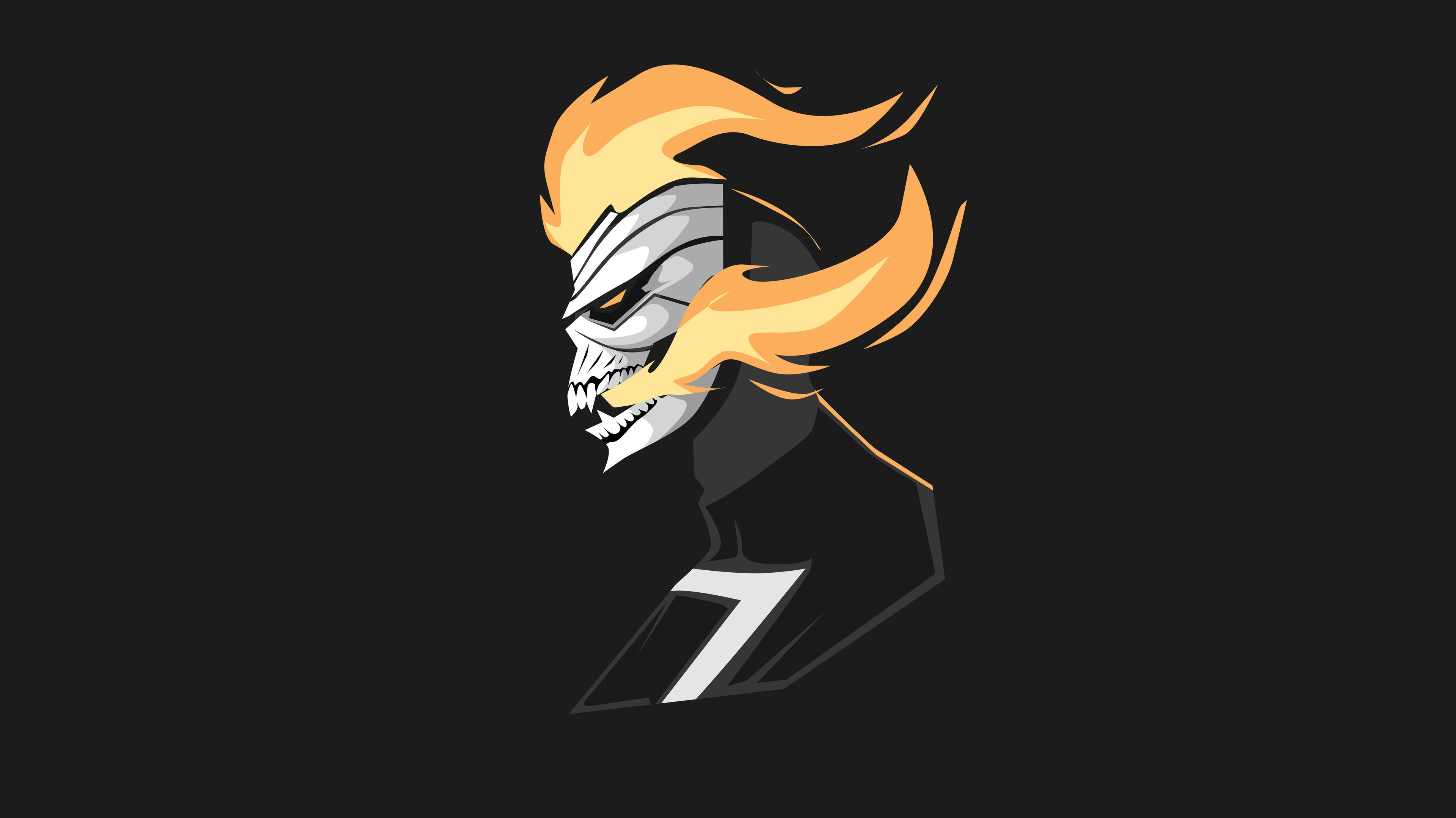 ghost rider 4k minimalism 1536523571 - Ghost Rider 4k Minimalism - superheroes wallpapers, minimalism wallpapers, hd-wallpapers, ghost rider wallpapers, artwork wallpapers, artstation wallpapers, artist wallpapers, 4k-wallpapers