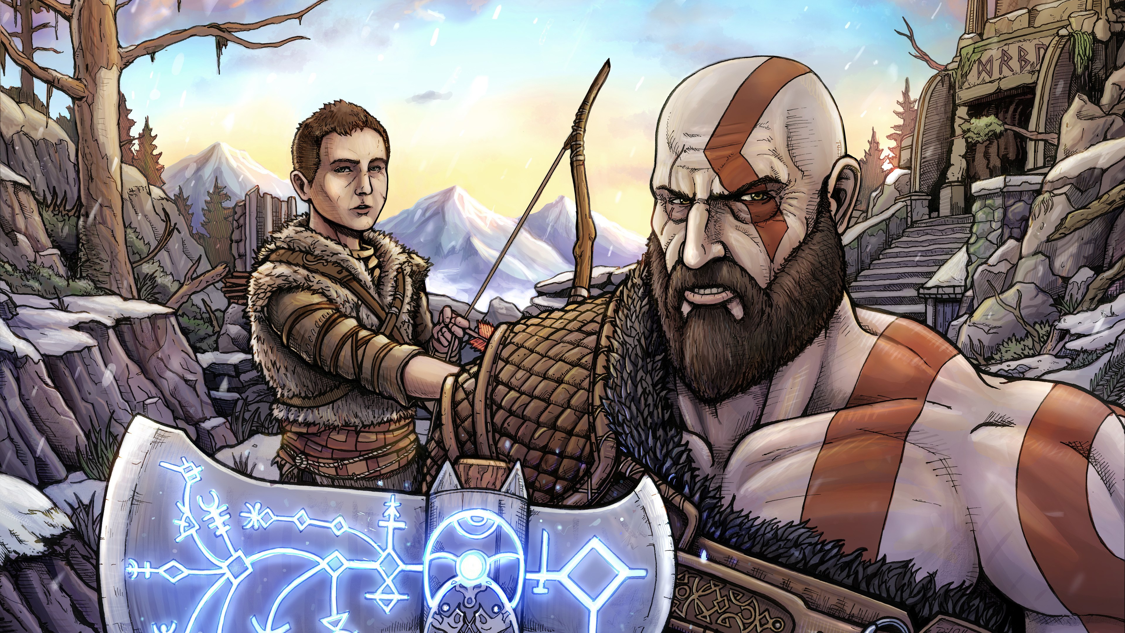 god of war 10k artwork 1537692042 - God Of War 10k Artwork - hd-wallpapers, god of war wallpapers, digital art wallpapers, deviantart wallpapers, artwork wallpapers, artist wallpapers, 8k wallpapers, 5k wallpapers, 4k-wallpapers, 10k wallpapers