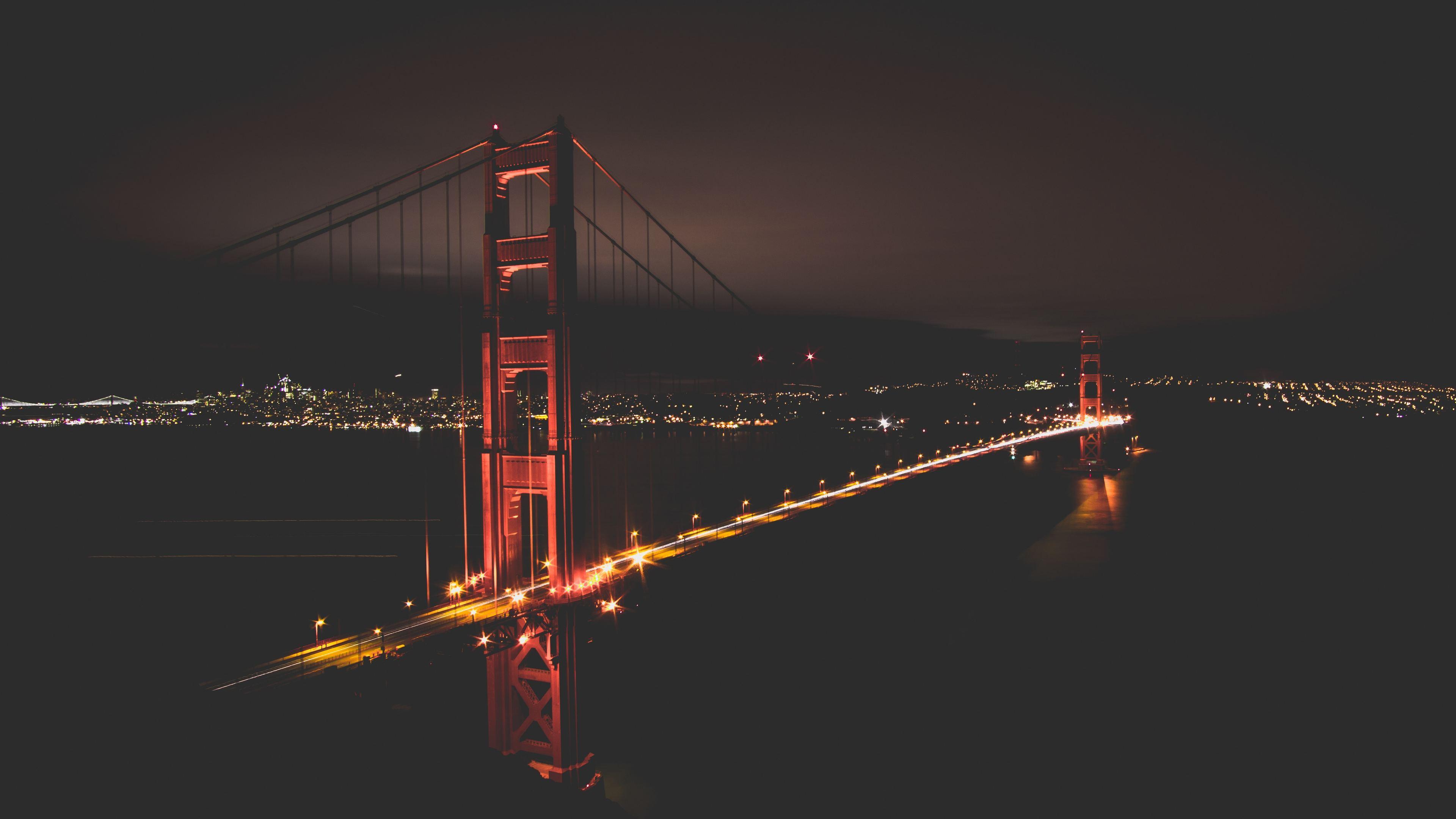 golden gate bridge at night time 1538072121 - Golden Gate Bridge At Night Time - world wallpapers, san francisco wallpapers, hd-wallpapers, golden gate bridge wallpapers, bridge wallpapers, 5k wallpapers, 4k-wallpapers