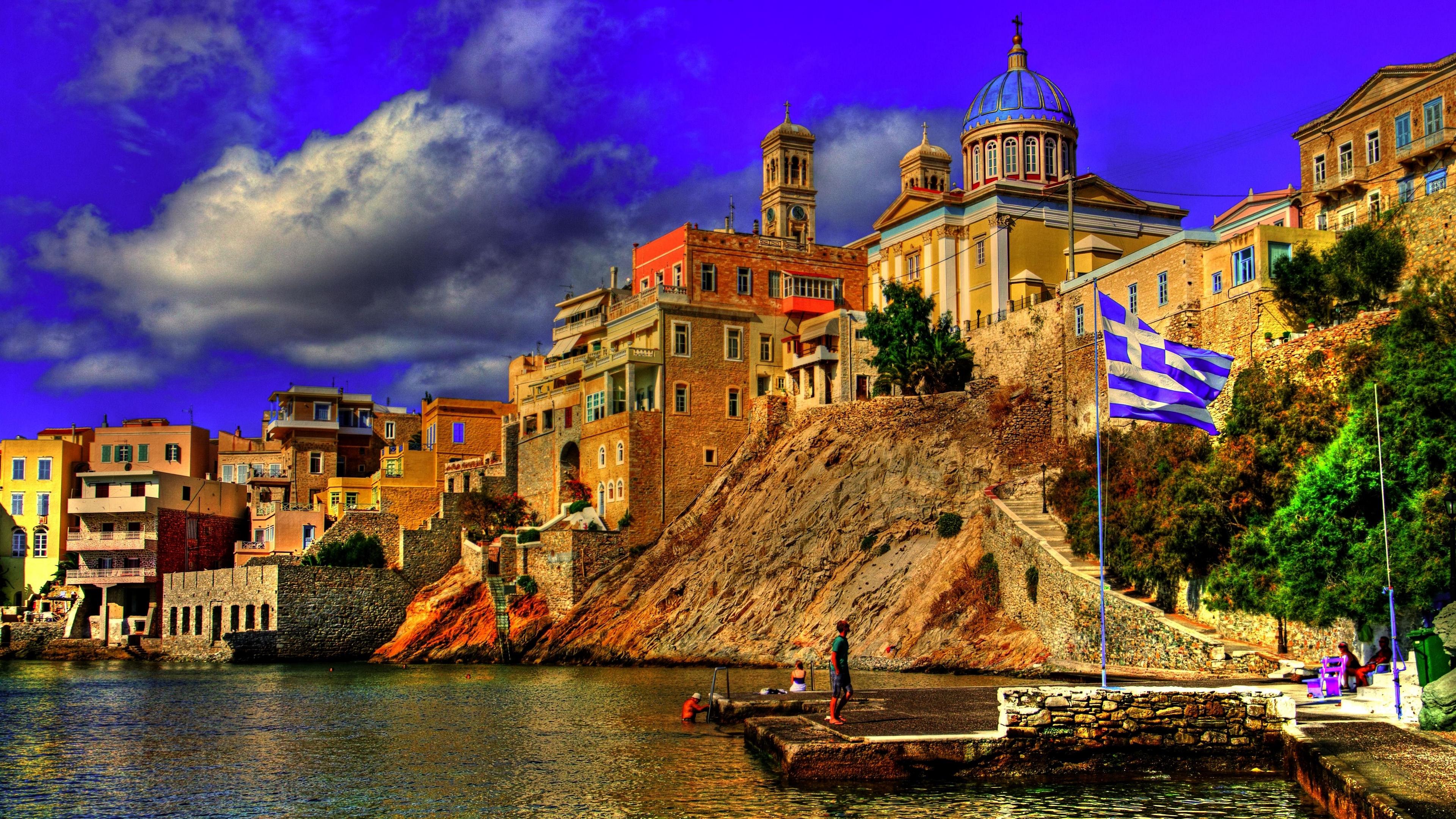 greece city sky buildings 4k 1538068204 - greece, city, sky, buildings 4k - Sky, Greece, City