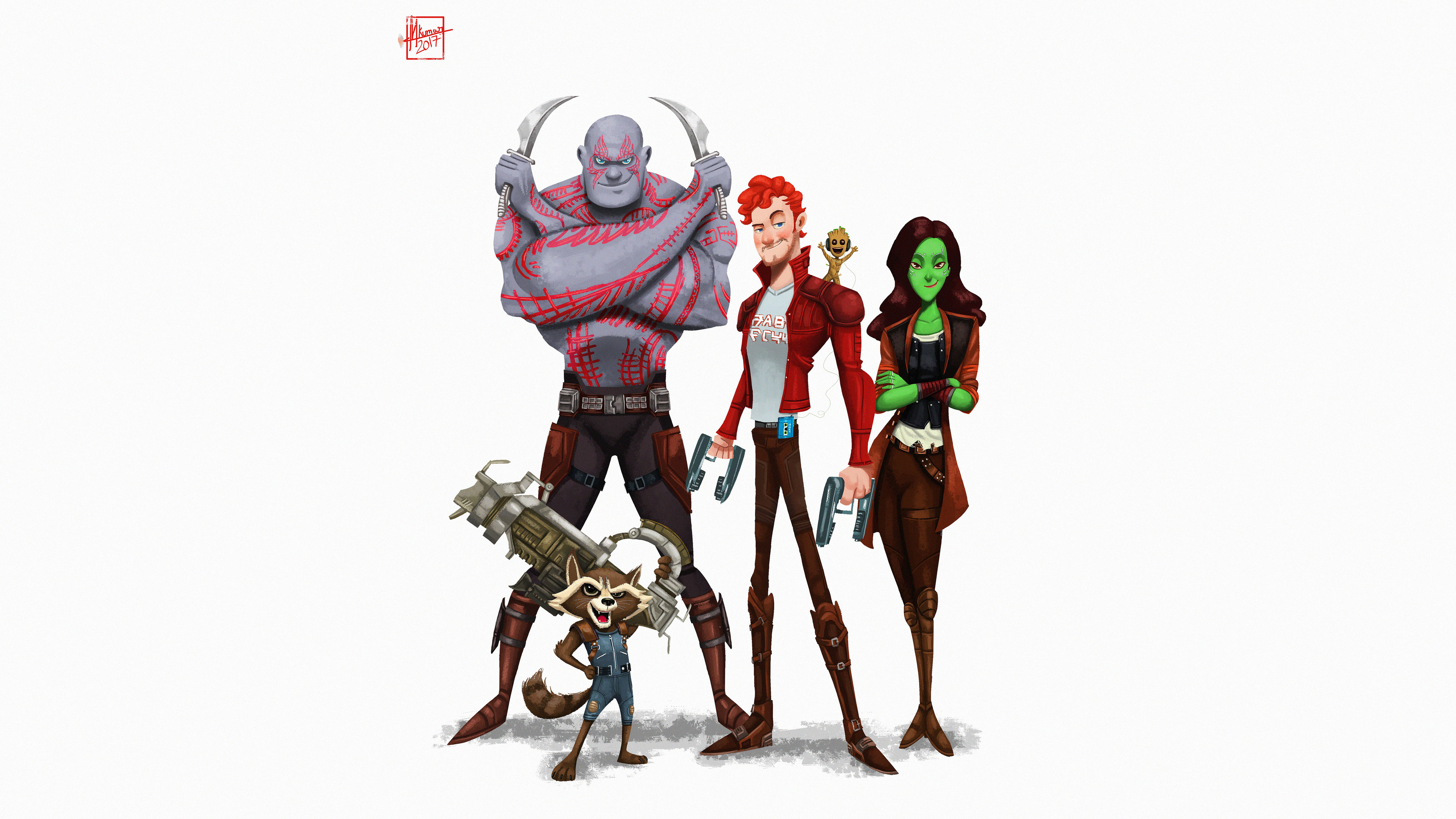 guardians of the galaxy 5k art 1536522199 - Guardians Of The Galaxy 5k Art - star lord wallpapers, rocket raccoon wallpapers, hd-wallpapers, guardians of the galaxy wallpapers, groot wallpapers, gamora wallpapers, drax the destroyer wallpapers, artwork wallpapers, artstation wallpapers, artist wallpapers, 5k wallpapers, 4k-wallpapers