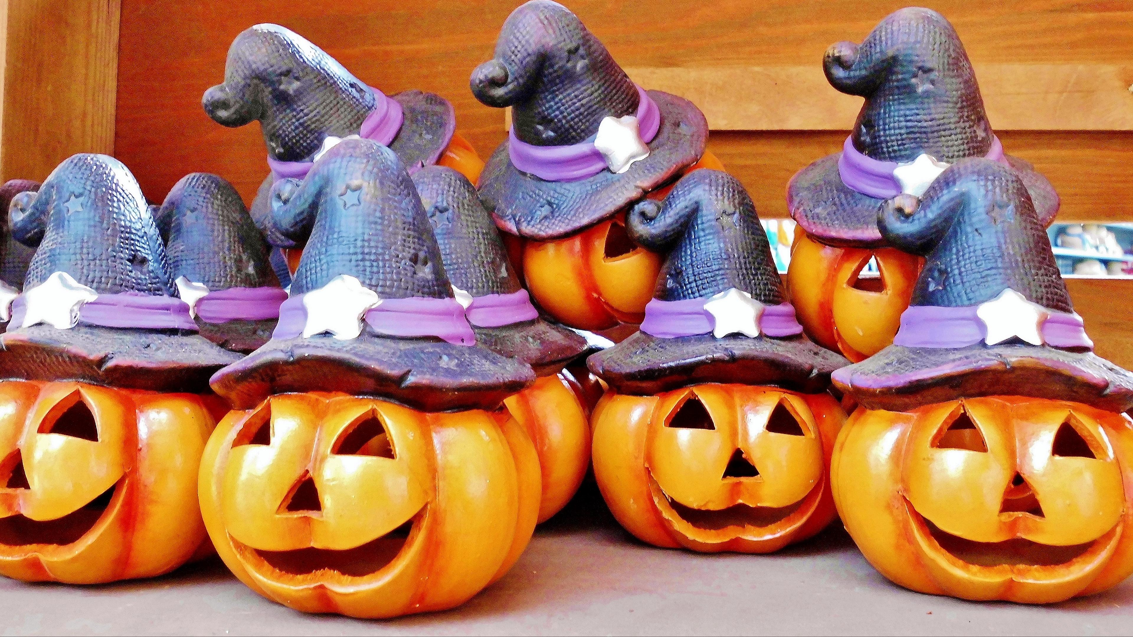 halloween pumpkin hat 4k 1538344853 - halloween, pumpkin, hat 4k - pumpkin, hat, halloween