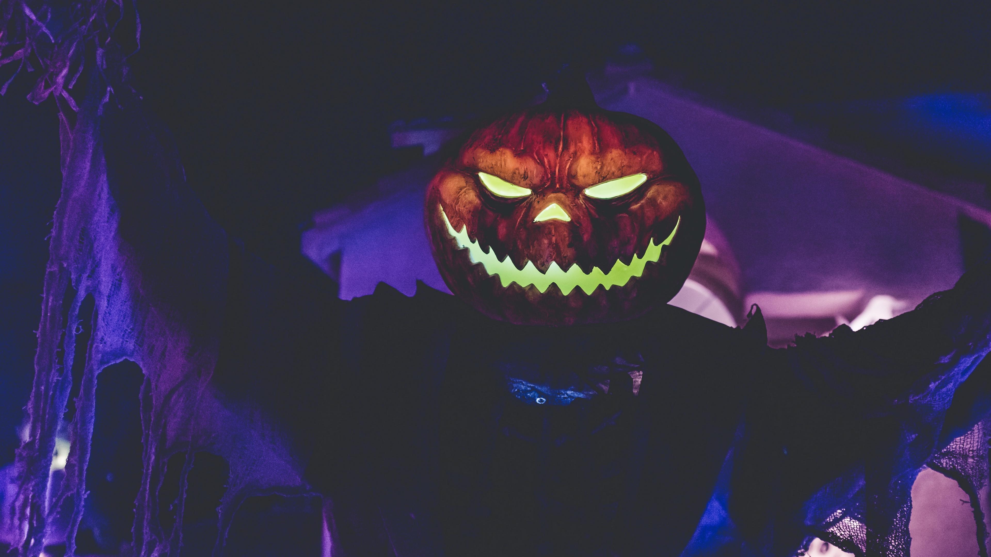 halloween pumpkin mask holiday 4k 1538344608 - halloween, pumpkin, mask, holiday 4k - pumpkin, Mask, halloween