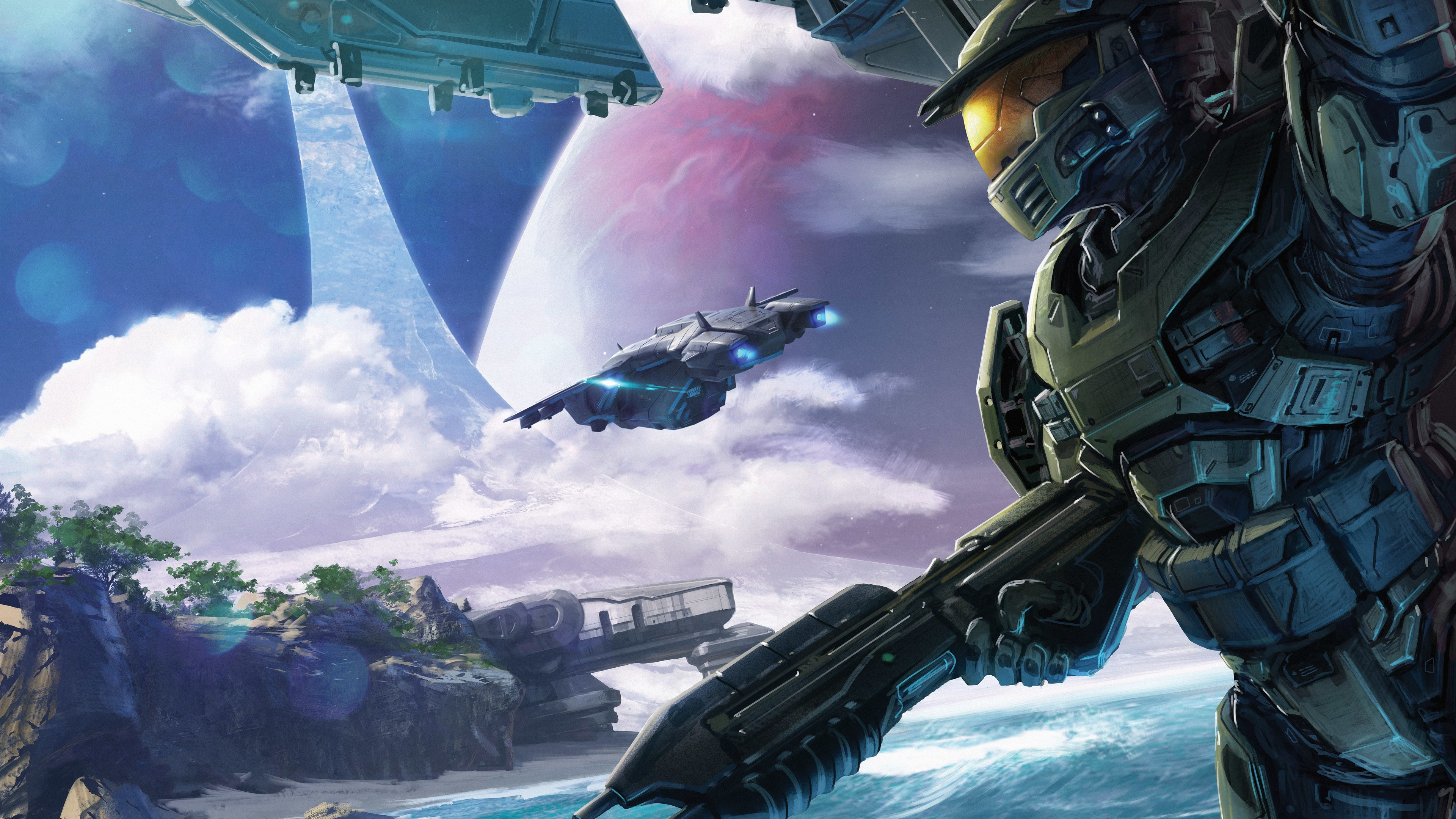 Wallpaper 4k Halo Conflict Artwork 5k 4k Wallpapers 5k
