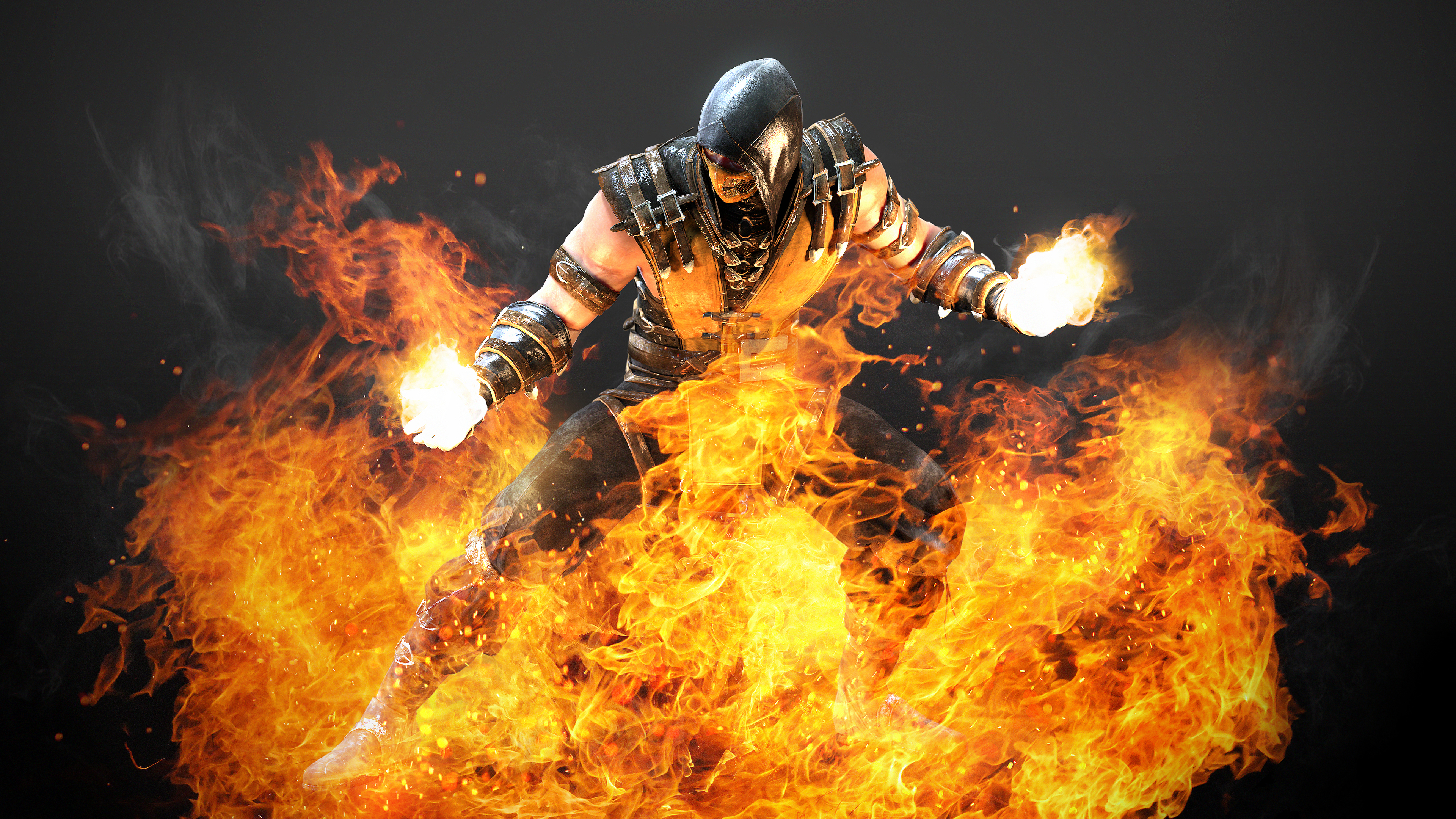 Wallpaper 4k Hellfire Scorpion Mortal Kombat X 5k Artwork 4k
