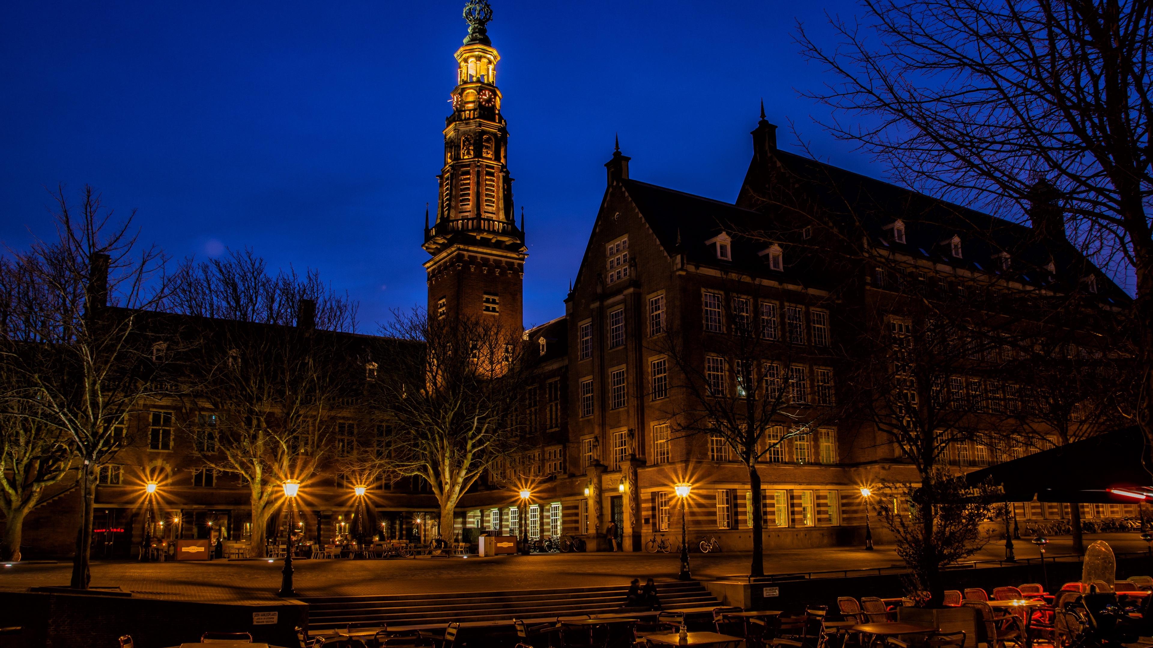 holland night building street 4k 1538067123 - holland, night, building, street 4k - Night, Holland, Building