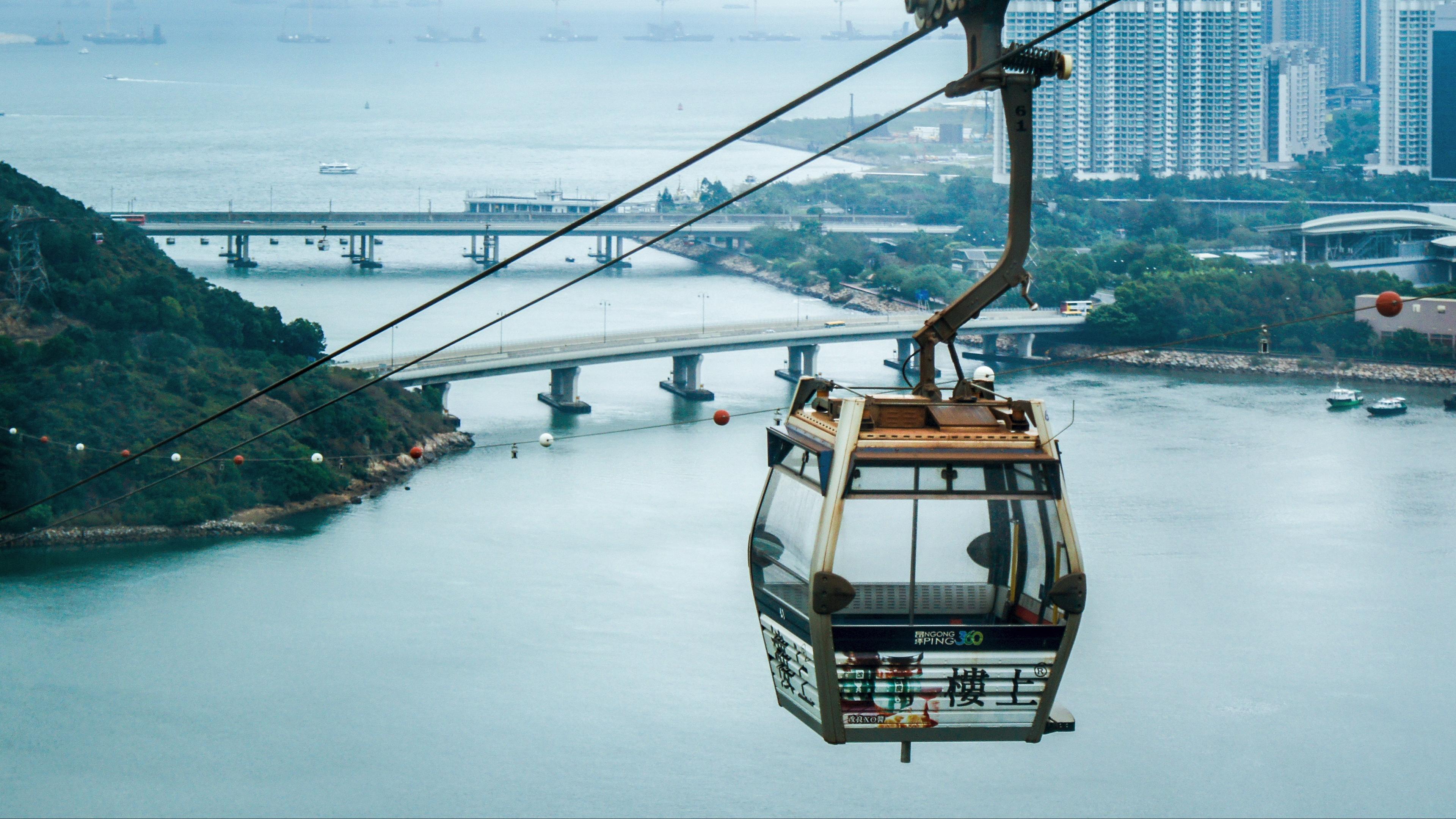 hong kong lantau island cable car cabin 4k 1538067935 - hong kong, lantau, island, cable car, cabin 4k - lantau, Island, hong kong