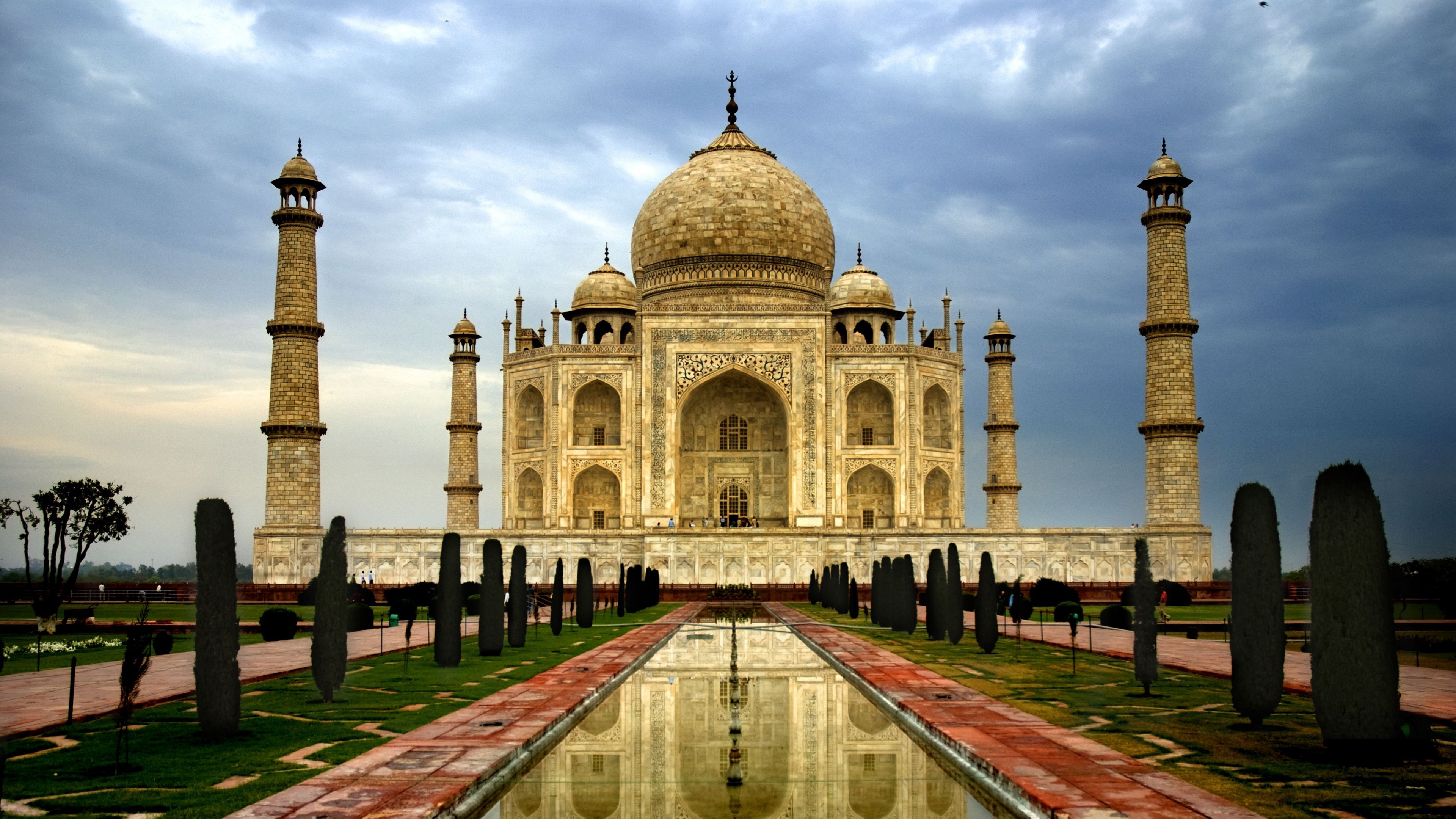 india city agra taj mahal architecture marble domes minarets cloudy day sky clouds 4k 1538064938 - india, city, agra, taj mahal, architecture, marble, domes, minarets, cloudy, day, sky, clouds 4k - India, City, Agra