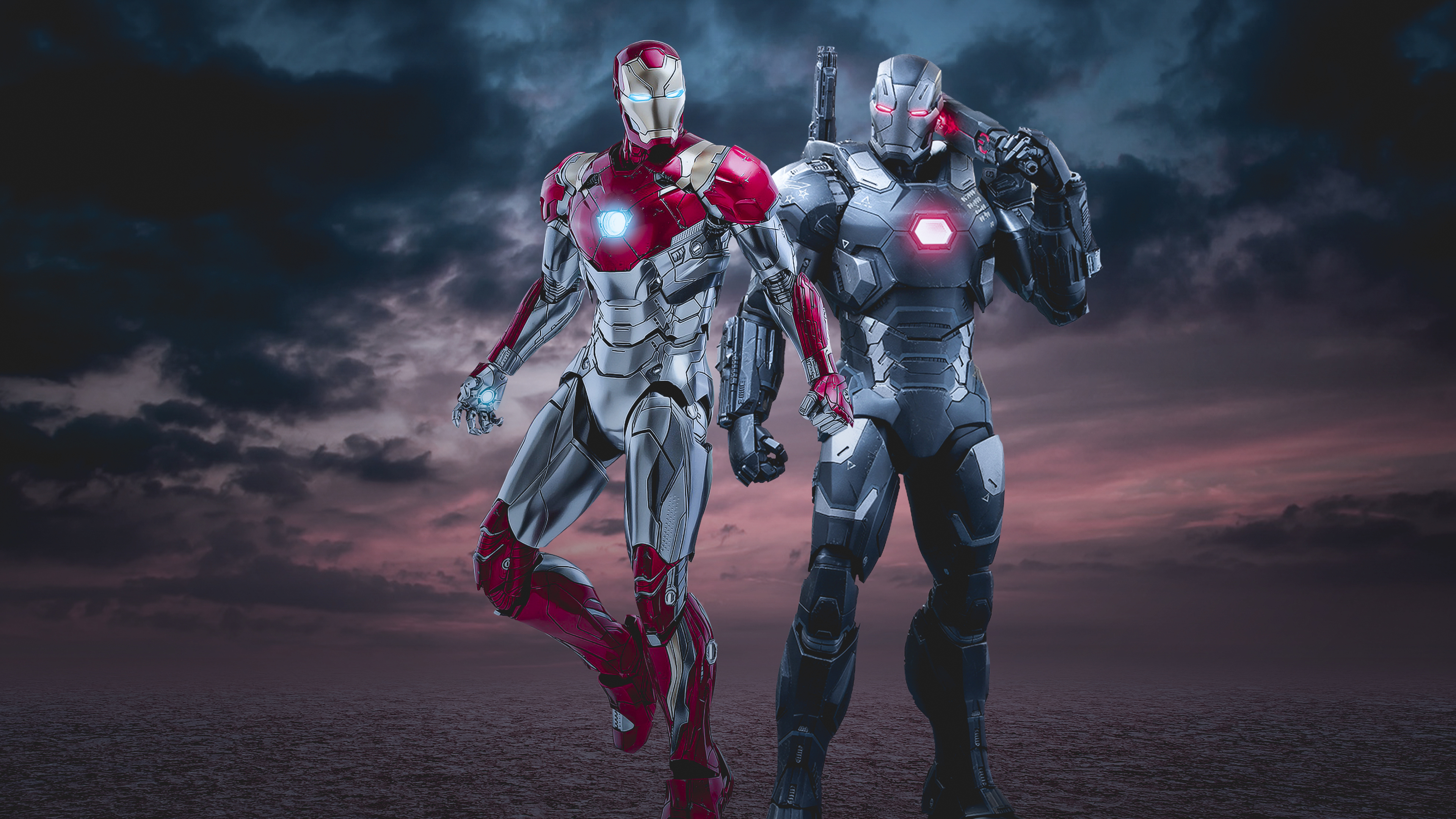 iron man and war machine 4k 1537645995 - Iron Man And War Machine 4k - war machine wallpapers, superheroes wallpapers, iron man wallpapers, hd-wallpapers, digital art wallpapers, deviantart wallpapers, artist wallpapers, 4k-wallpapers