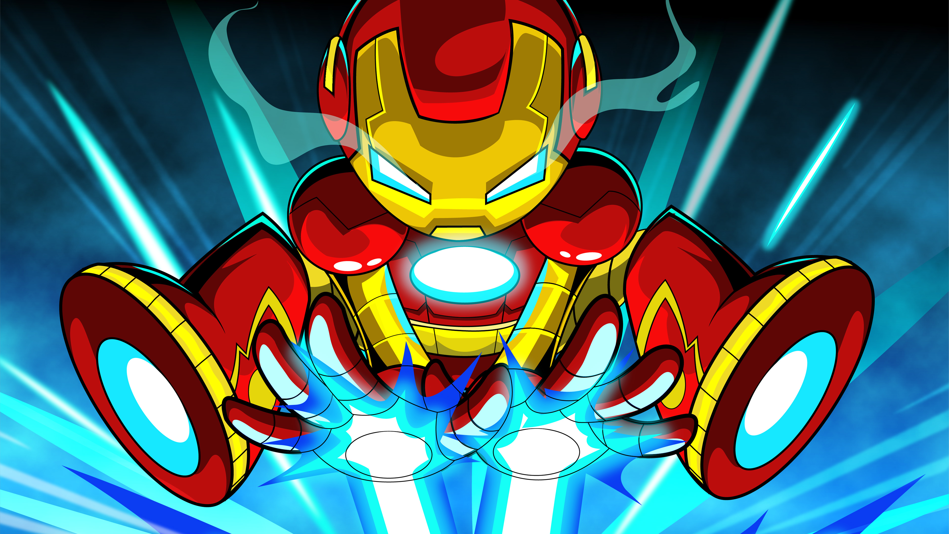 Wallpaper 4k Iron Man Cartoon Digital Art 4k 4k Wallpapers Artist