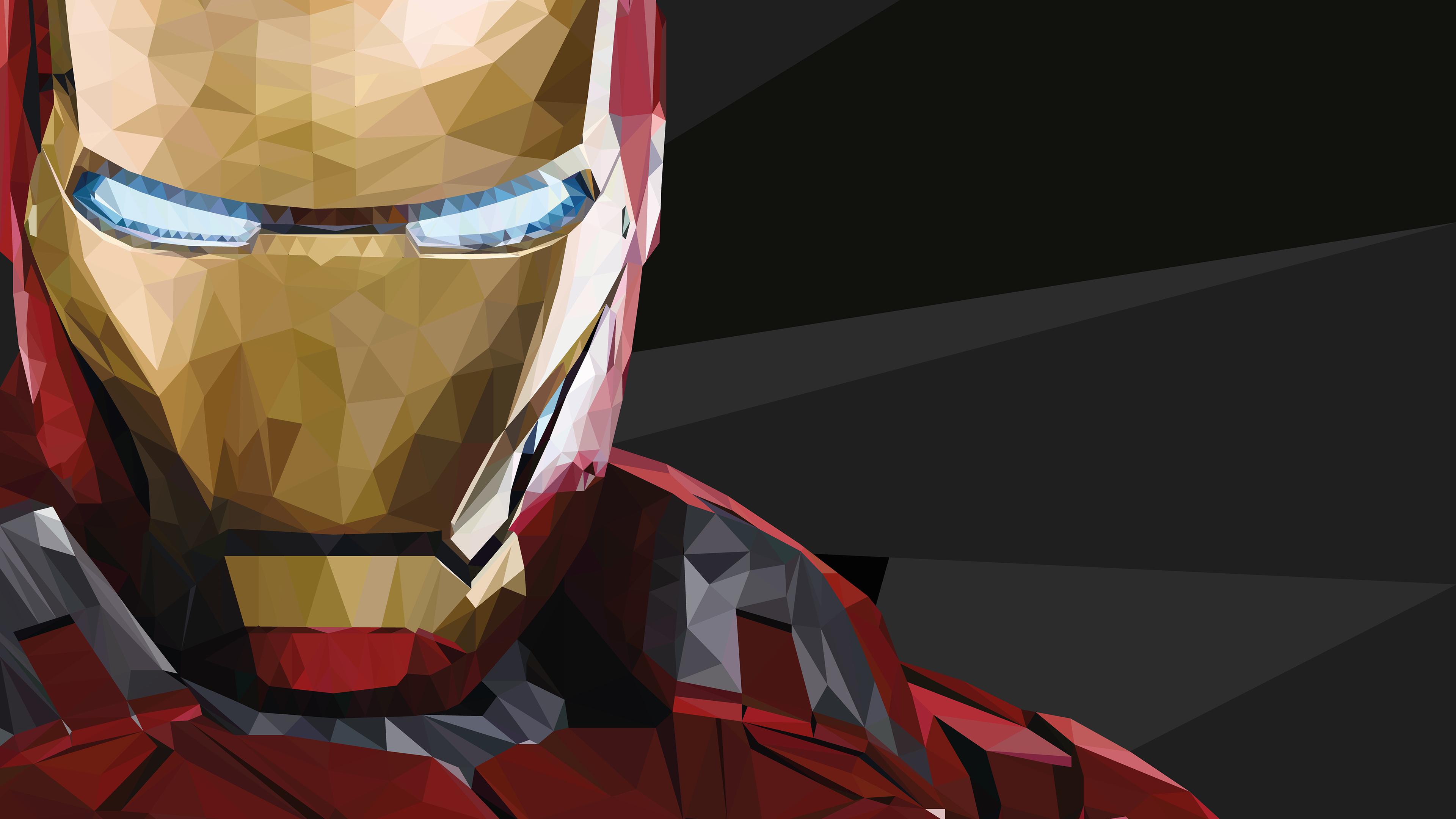 iron man low poly 1536522677 - Iron Man Low Poly - superheroes wallpapers, iron man wallpapers, hd-wallpapers, digital art wallpapers, behance wallpapers, artwork wallpapers, artist wallpapers, 4k-wallpapers