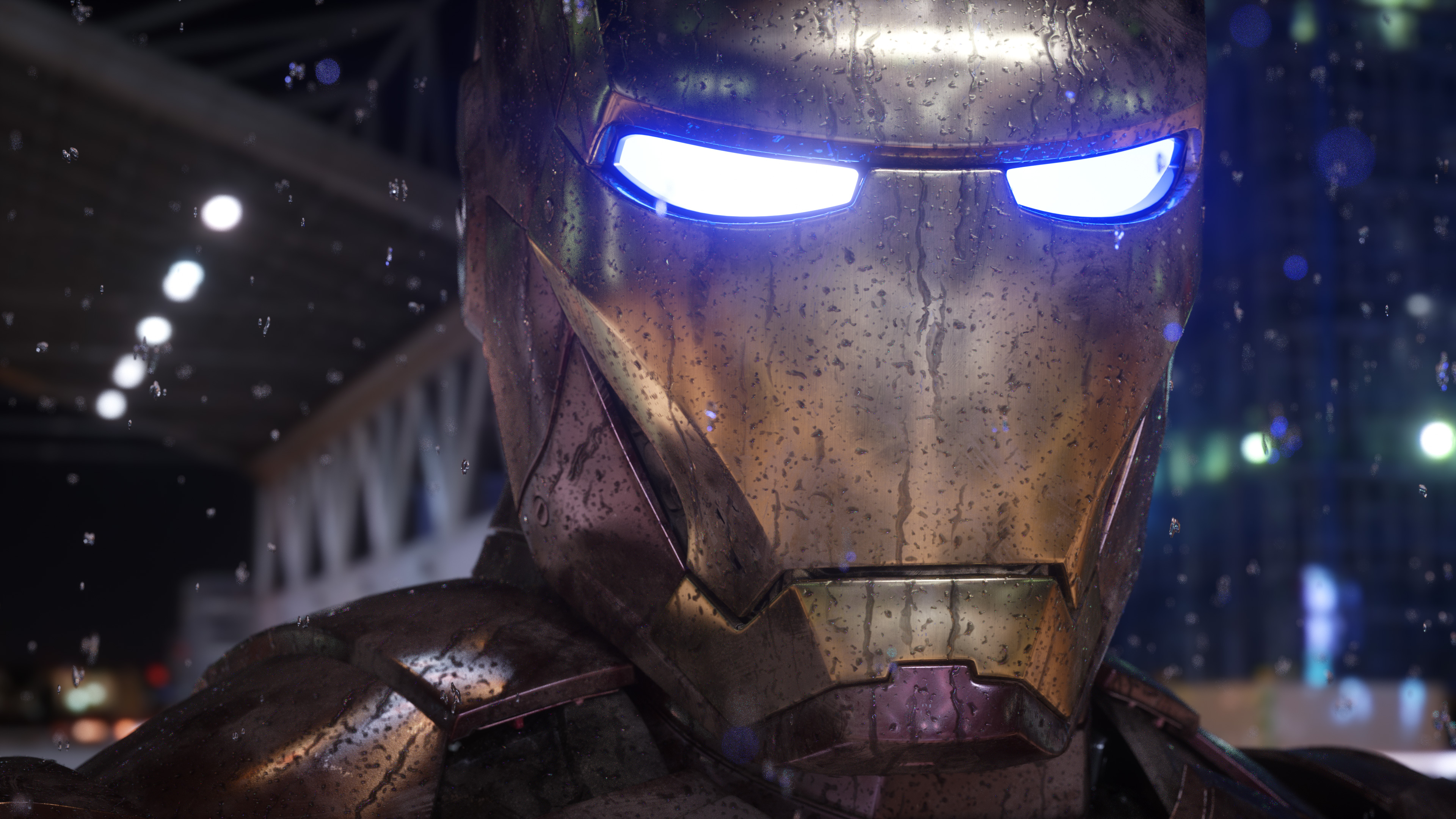 Wallpaper 4k Iron Man Mask Closeup 4k 4k Wallpapers Behance
