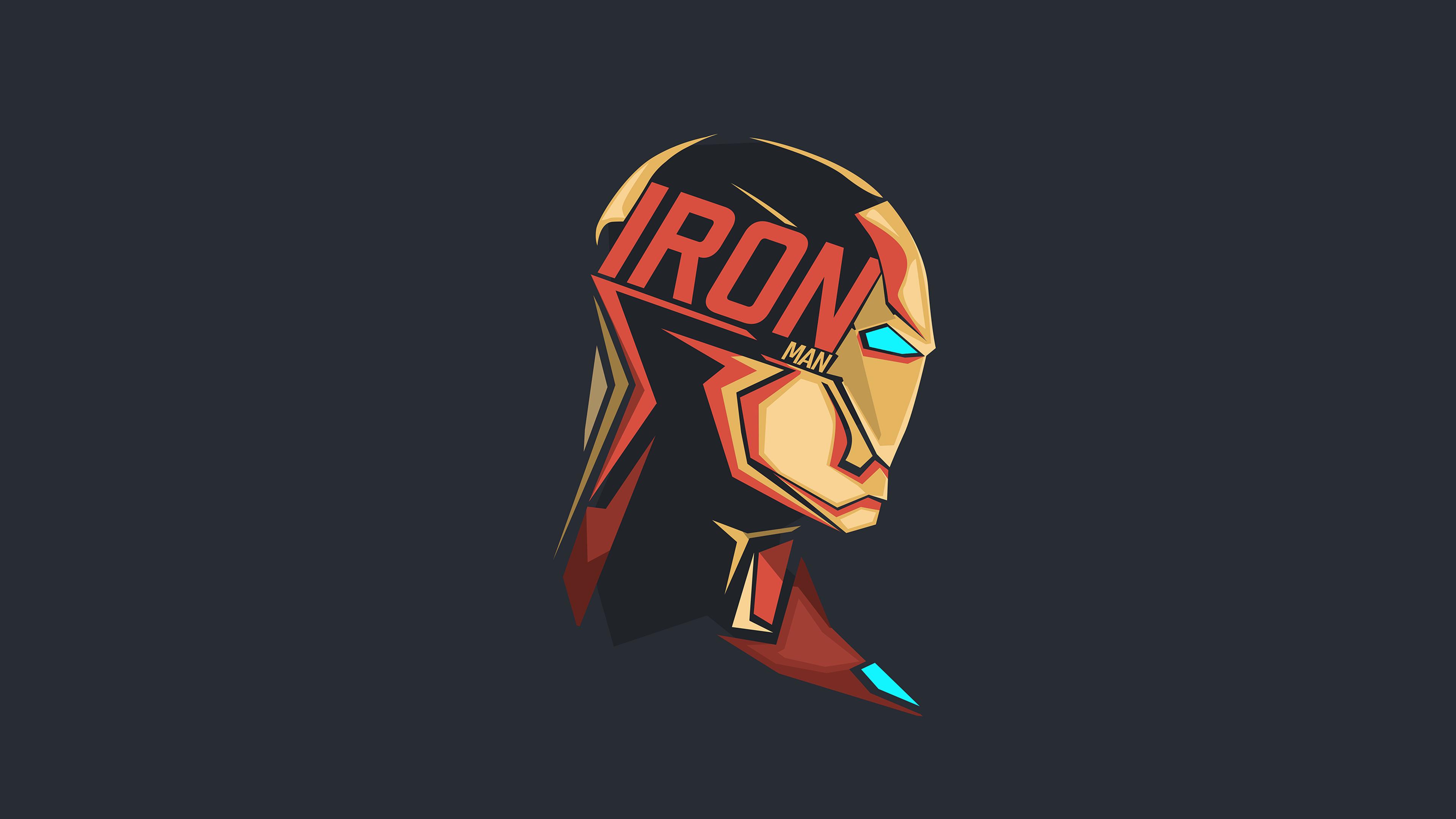 Iron Man Pop Head Minimalism 8k