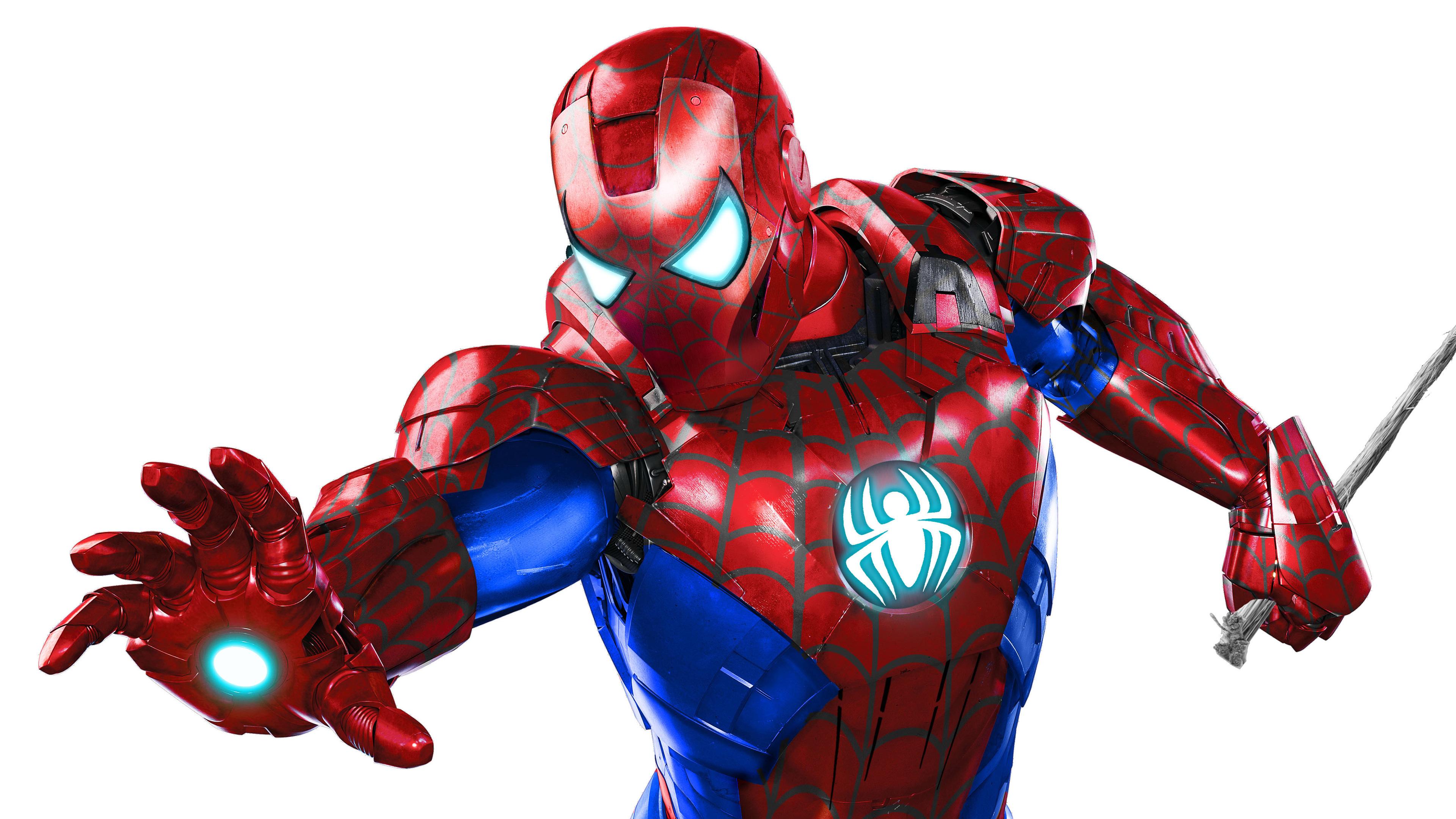 Wallpaper 4k Iron Spider Man Suit 4k 4k Wallpapers Artist