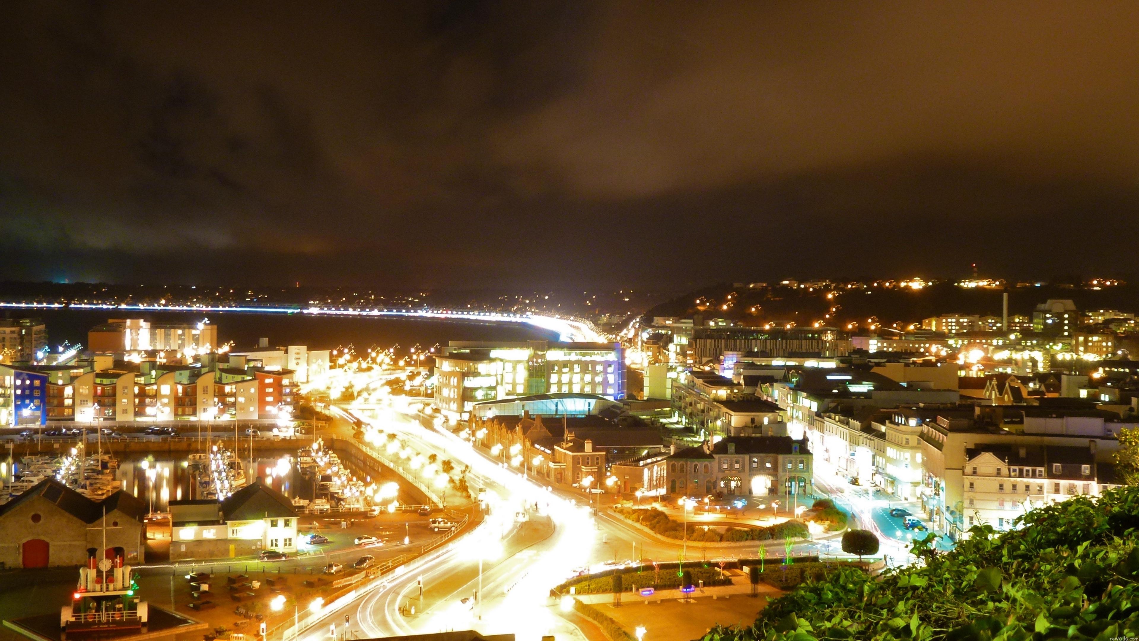 jersey saint helier cityscape night 4k 1538065142 - jersey, saint helier, cityscape, night 4k - saint helier, Jersey, Cityscape