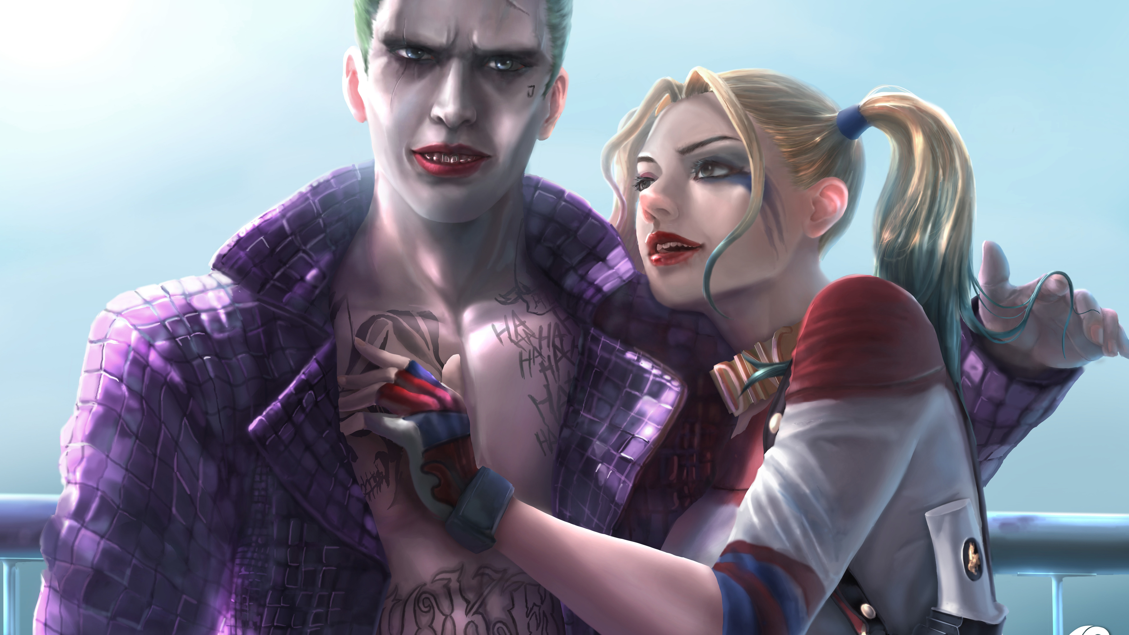 joker and harley quinn 8k artwork 1537645930 - Joker And Harley Quinn 8K Artwork - joker wallpapers, harley quinn wallpapers, digital art wallpapers, deviantart wallpapers, artwork wallpapers, artist wallpapers, art wallpapers, 8k wallpapers
