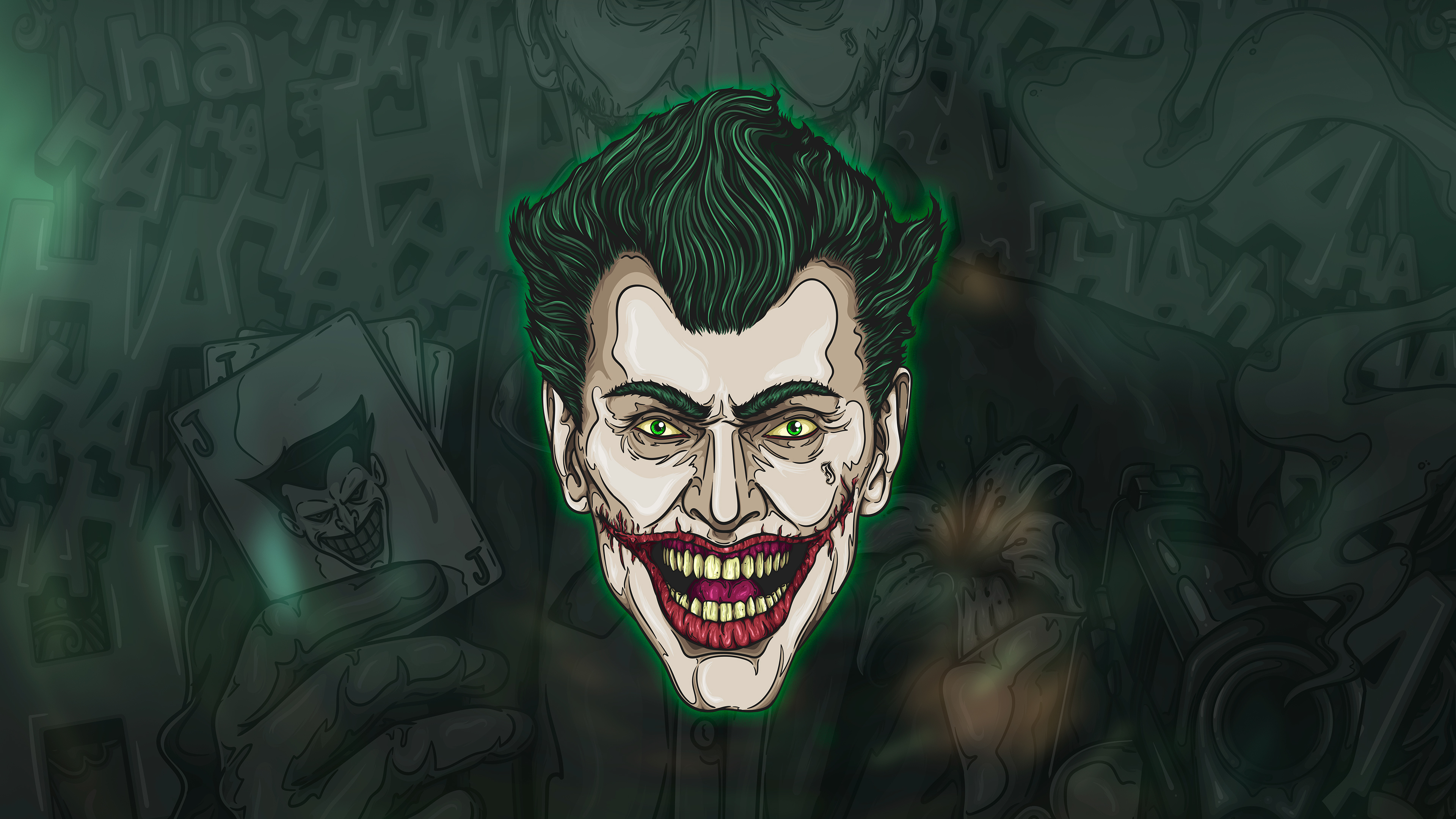 joker face art 1537645962 - Joker Face Art - supervillain wallpapers, superheroes wallpapers, joker wallpapers, hd-wallpapers, digital art wallpapers, behance wallpapers, artwork wallpapers, 4k-wallpapers