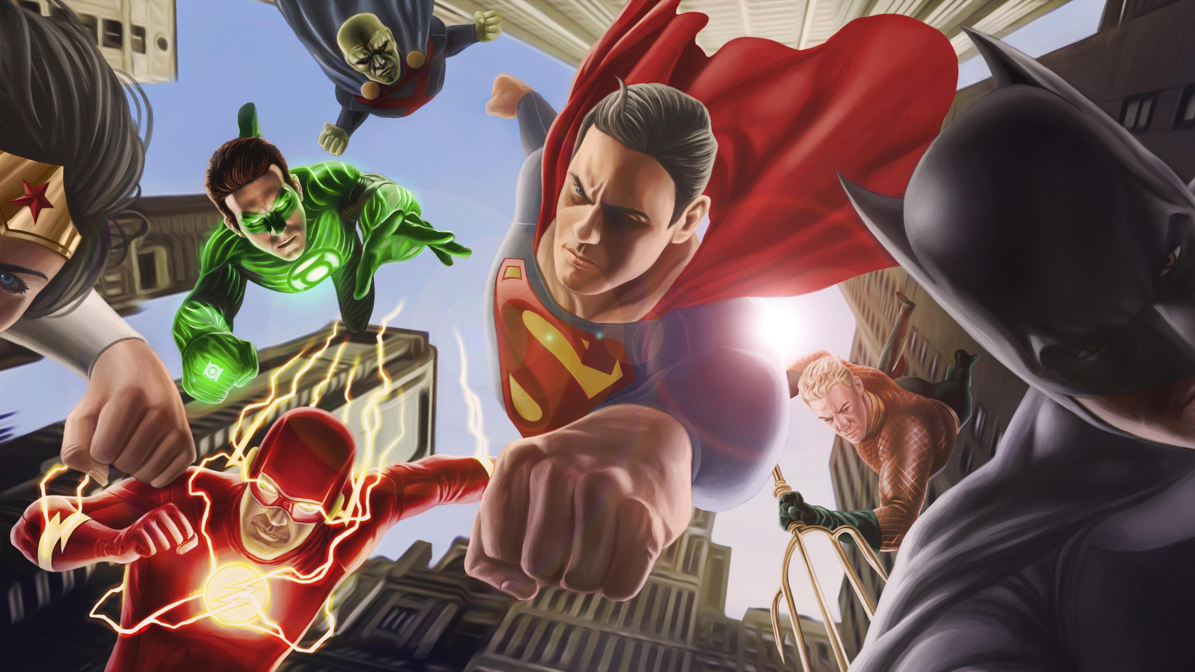 Justice League Artwork 8k