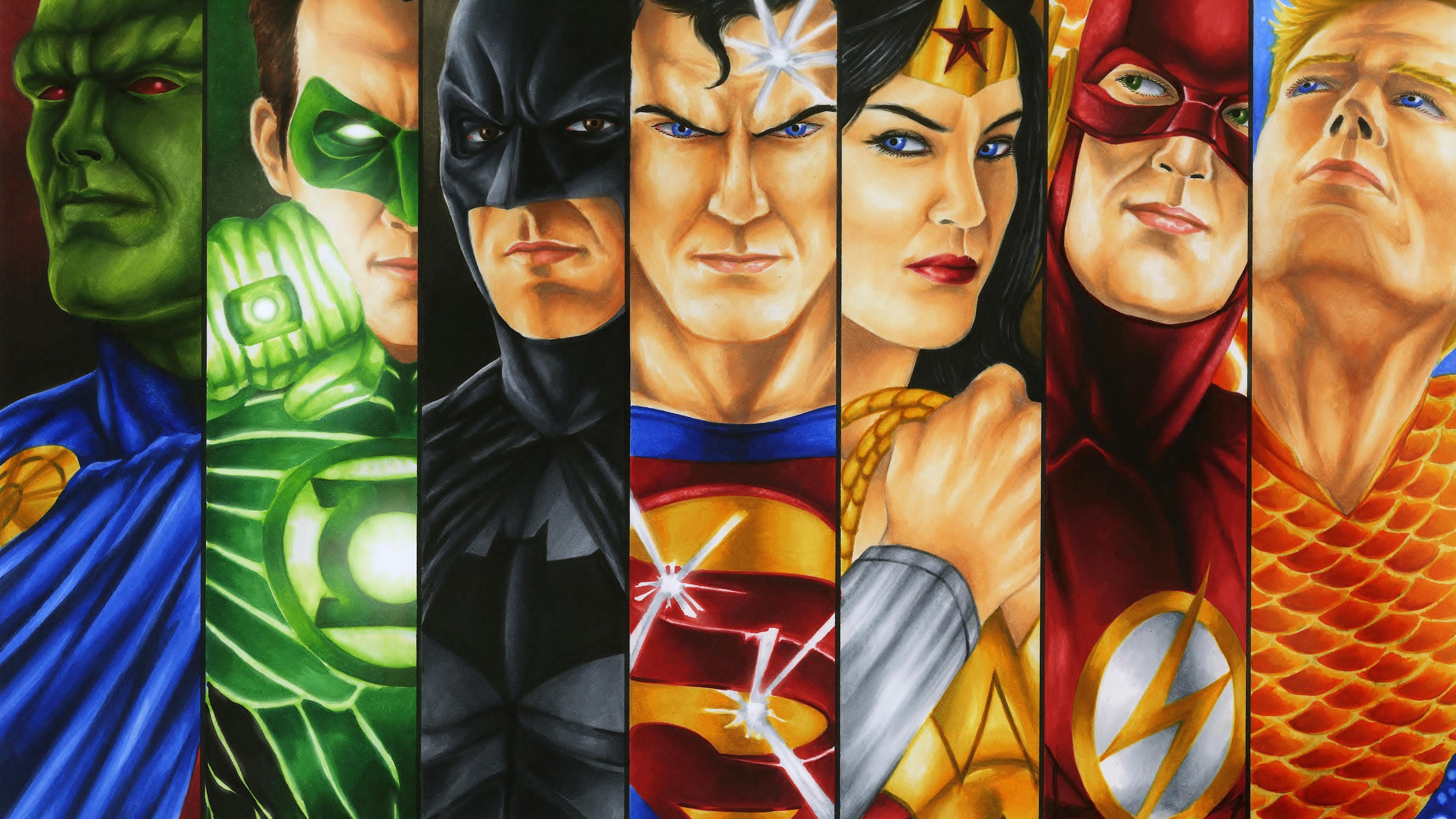 Justice League Heroes Fan art 4k