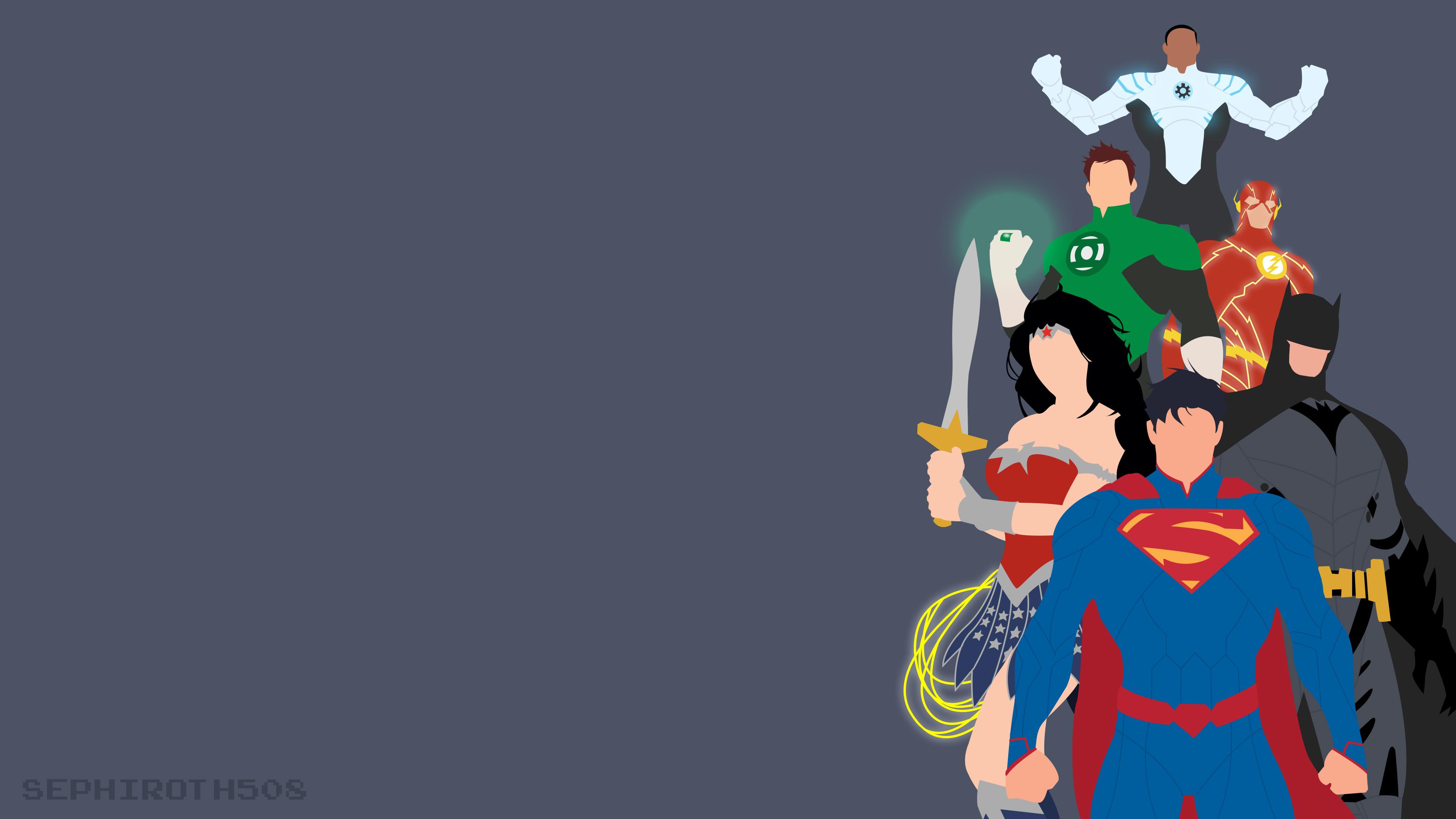 justice league minimalist 1536518594 - Justice League Minimalist - wonder woman wallpapers, superman wallpapers, minimalism wallpapers, justice league wallpapers, hd-wallpapers, green lantern wallpapers, flash wallpapers, deviantart wallpapers, cyborg wallpapers, batman wallpapers, artist wallpapers, 4k-wallpapers