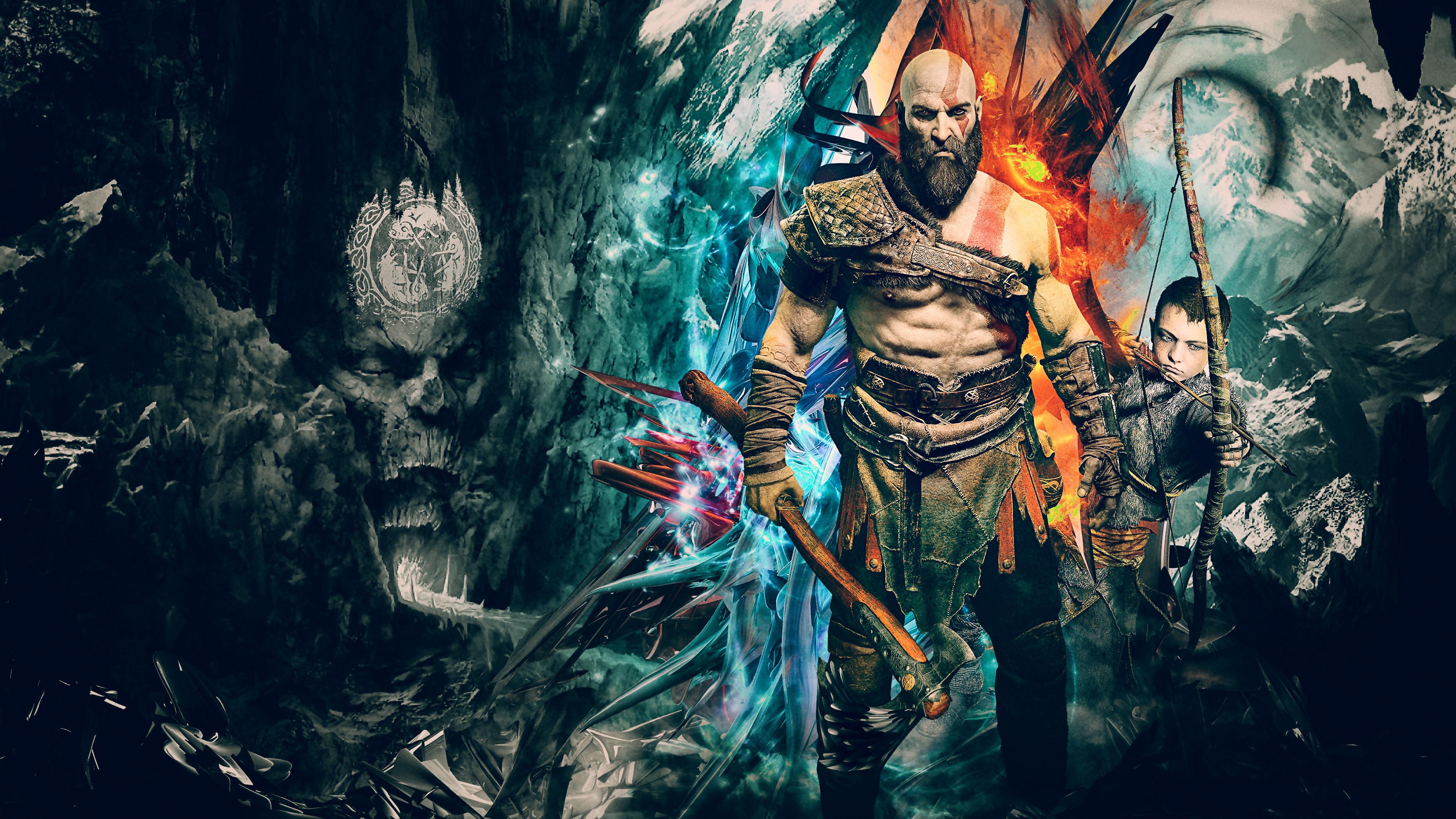kratos god of war 4k artwork 1537691520 - Kratos God Of War 4k Artwork - ps games wallpapers, kratos wallpapers, hd-wallpapers, god of war wallpapers, god of war 4 wallpapers, games wallpapers, artwork wallpapers, 4k-wallpapers