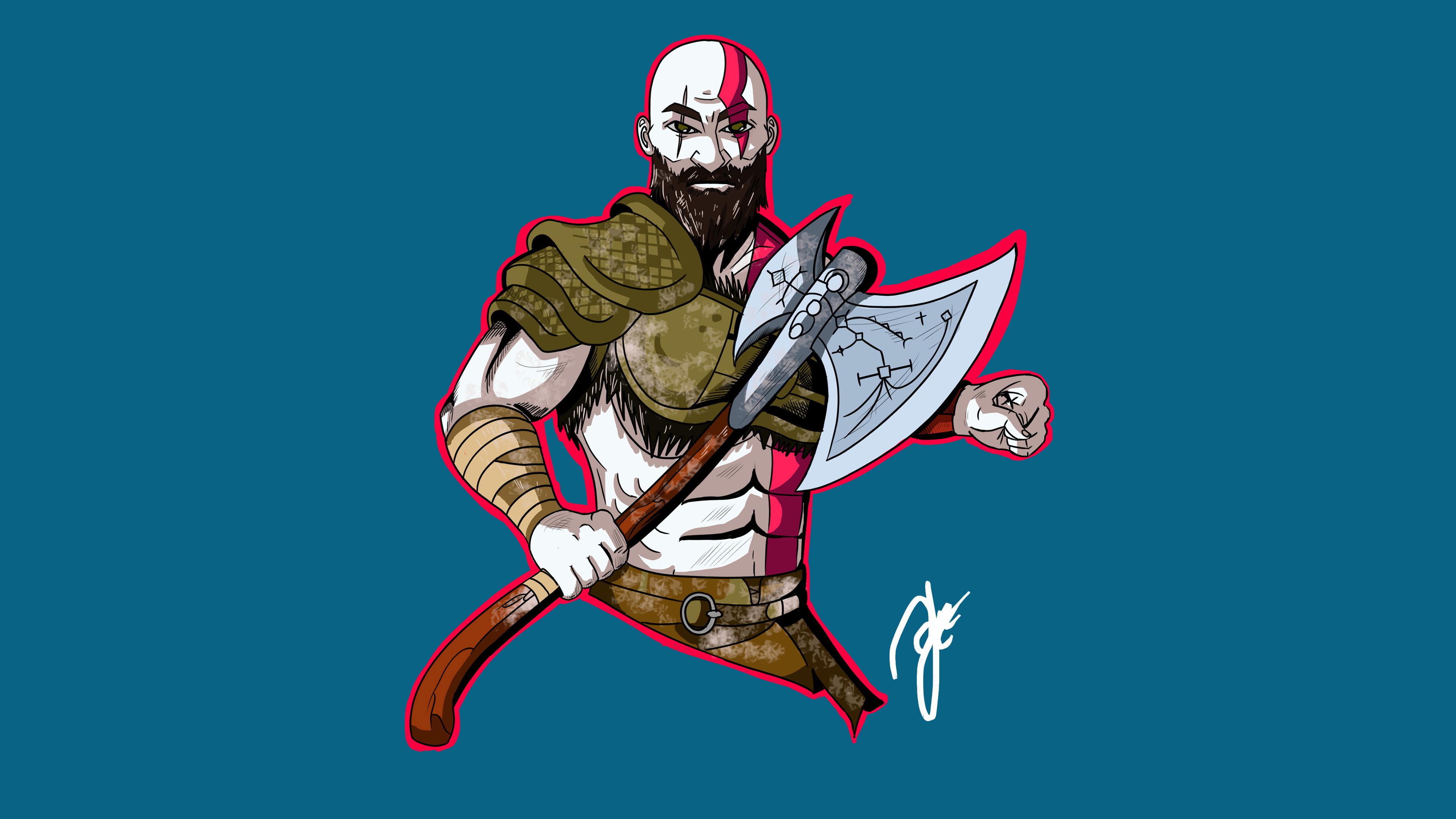 kratos god of war artwork 4k 1537691480 - Kratos God Of War Artwork 4k - kratos wallpapers, hd-wallpapers, god of war wallpapers, god of war 4 wallpapers, games wallpapers, digital art wallpapers, artwork wallpapers, artstation wallpapers, artist wallpapers, 4k-wallpapers