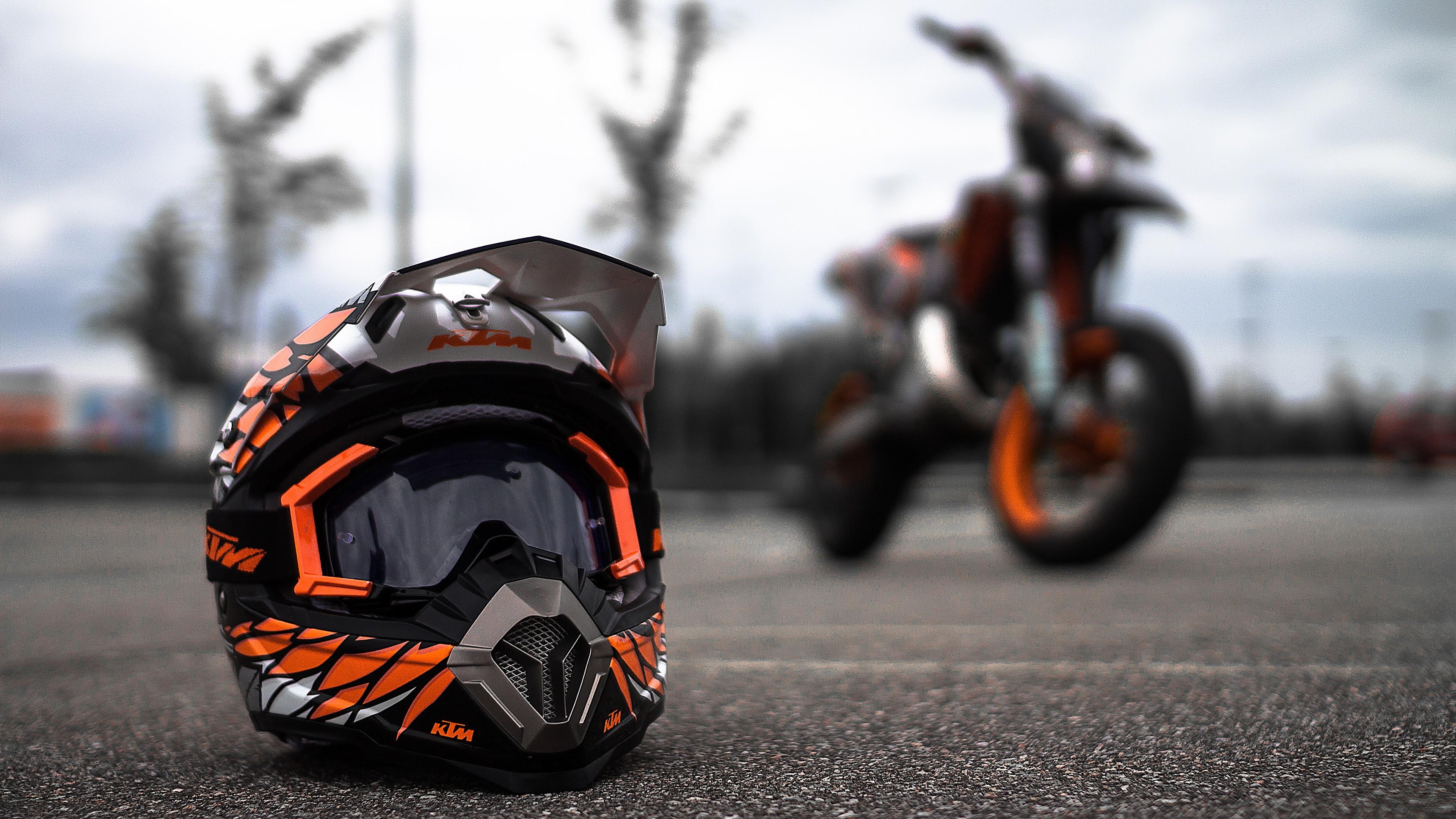 ktm helmet 4k 1536316216 - KTM Helmet 4k - motorcycle wallpapers, ktm wallpapers, helmet wallpapers, bikes wallpapers