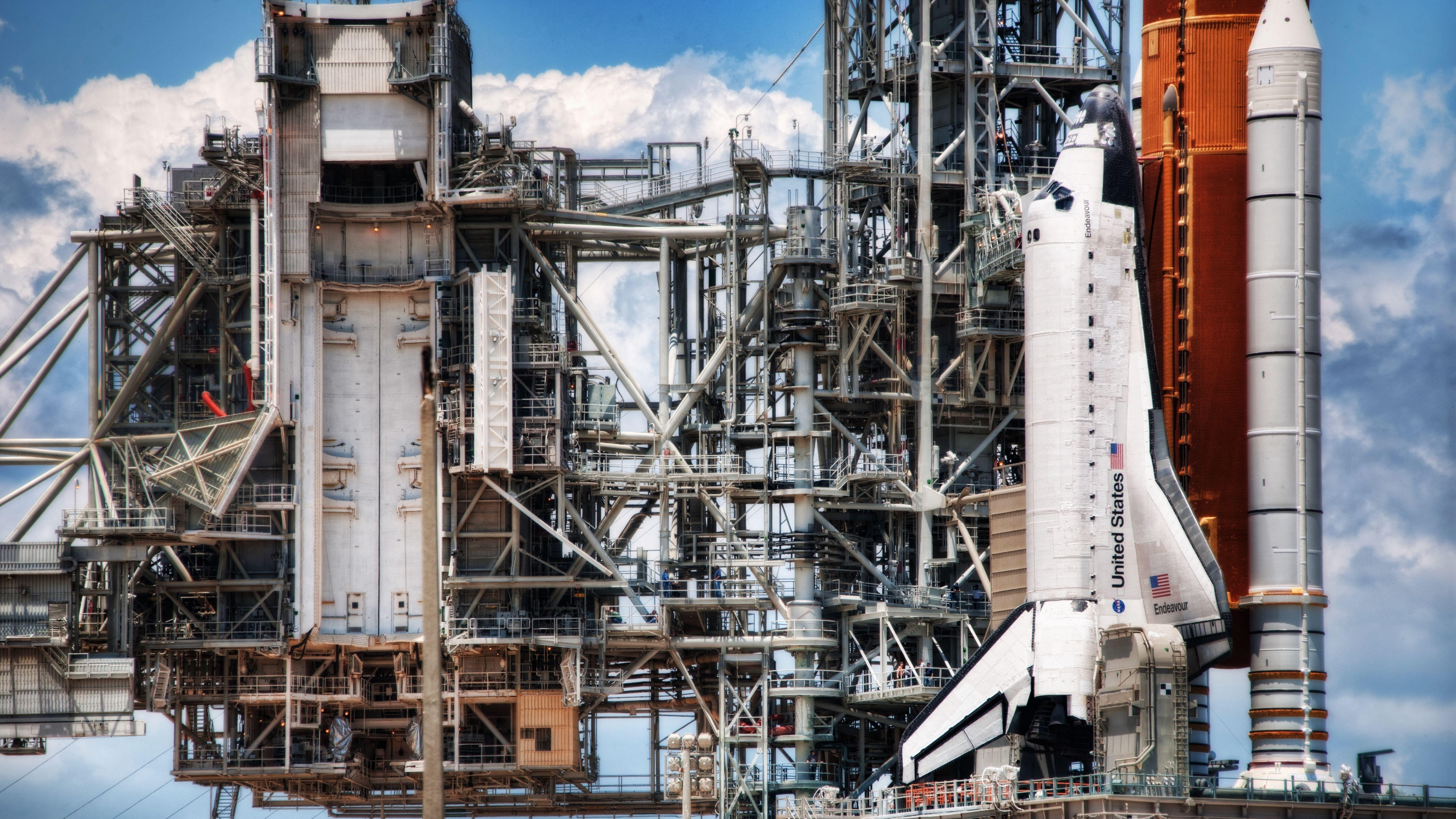 launching pad spaceport shuttle clouds running 4k 1536016171 - launching pad, spaceport, shuttle, clouds, running 4k - spaceport, Shuttle, launching pad