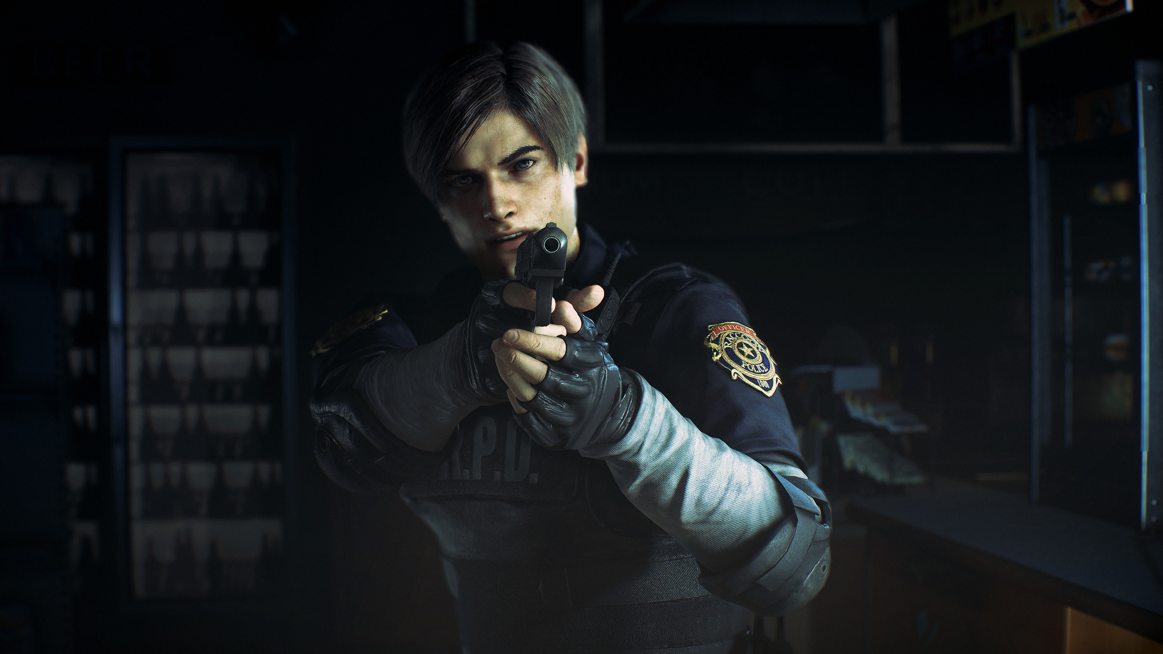 leon kennedy resident evil 2 4k 1537691727 - Leon Kennedy Resident Evil 2 4k - resident evil 2 wallpapers, leon kennedy wallpapers, hd-wallpapers, games wallpapers, 4k-wallpapers, 2019 games wallpapers