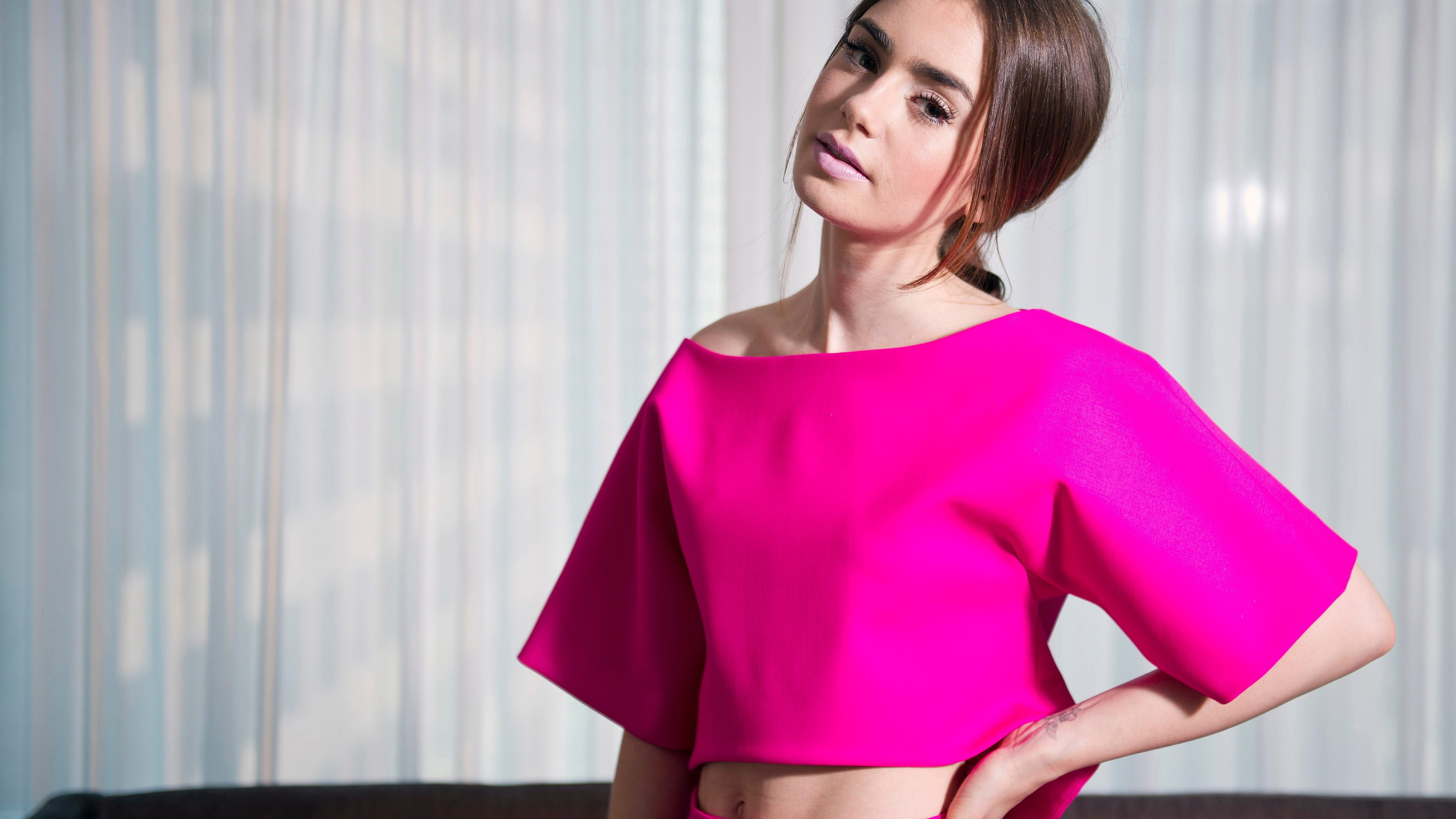 lily collins 4k 2018 1536859752 - Lily Collins 4k 2018 - model wallpapers, lily collins wallpapers, hd-wallpapers, girls wallpapers, celebrities wallpapers, 4k-wallpapers