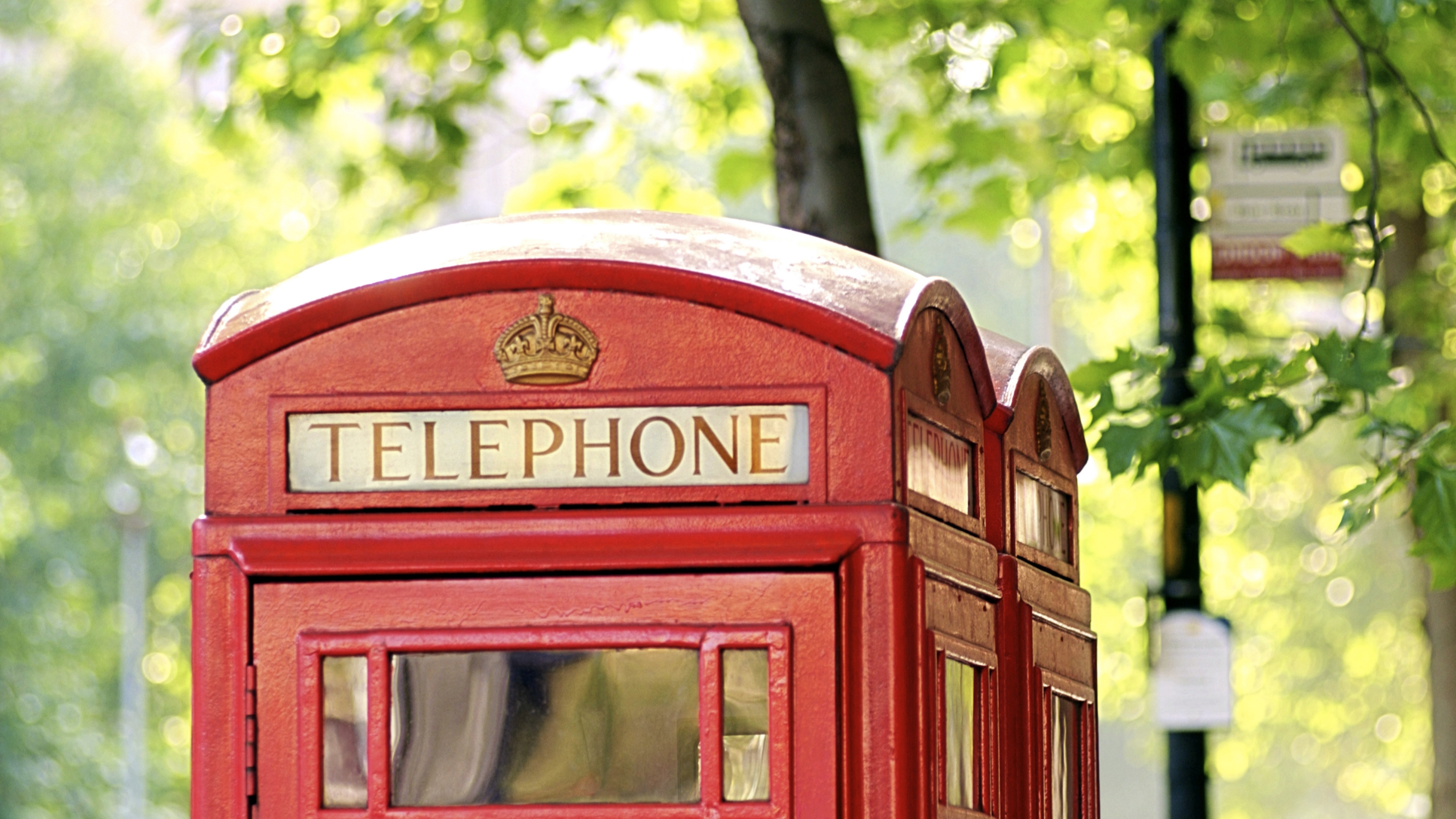 london telephone booth england city trees 4k 1538067628 - london, telephone booth, england, city, trees 4k - telephone booth, London, England