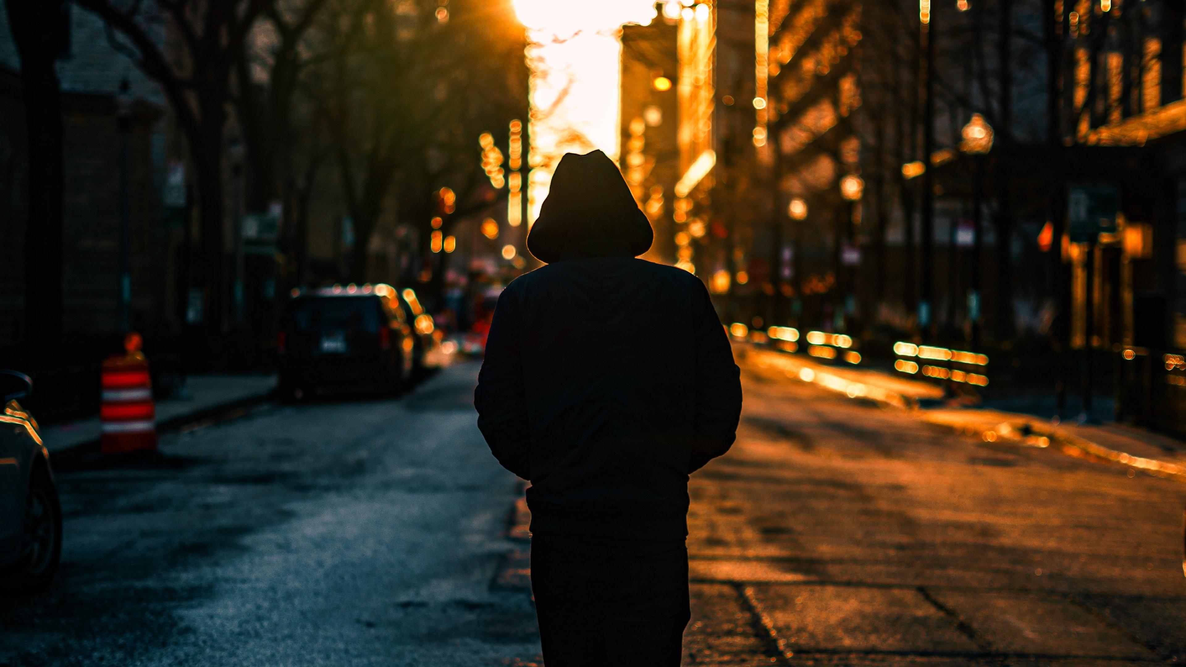 loneliness man hood city 4k 1538068044 - loneliness, man, hood, city 4k - Man, loneliness, Hood