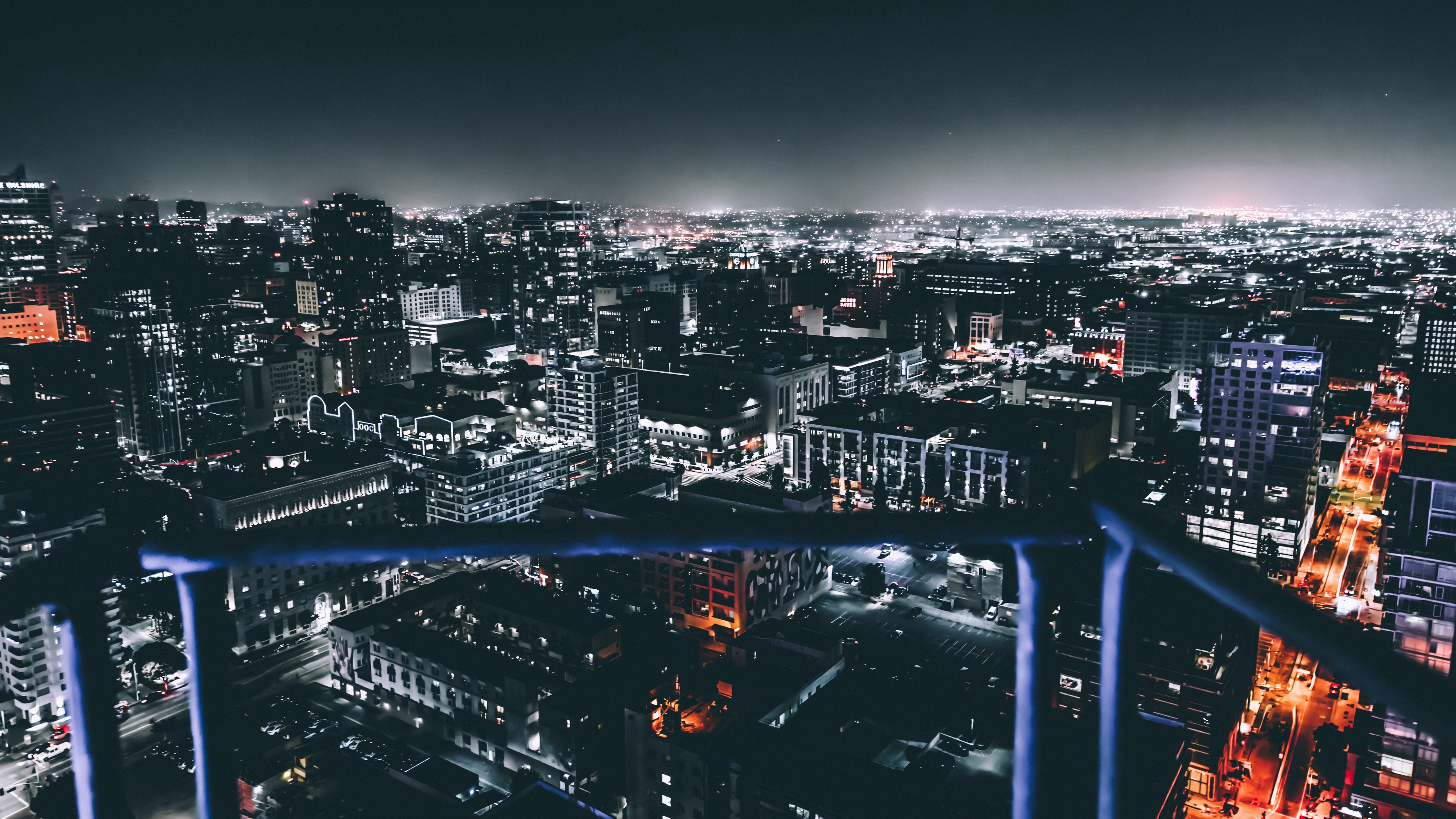 los angeles united states night city buildings 4k 1538067926 - los angeles, united states, night city, buildings 4k - united states, night city, los angeles
